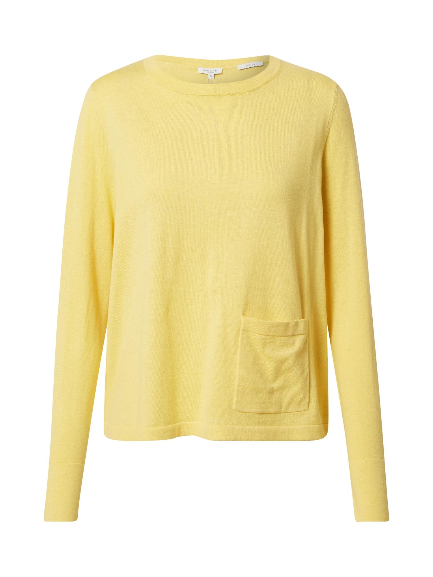 MINE TO FIVE Megztinis geltona