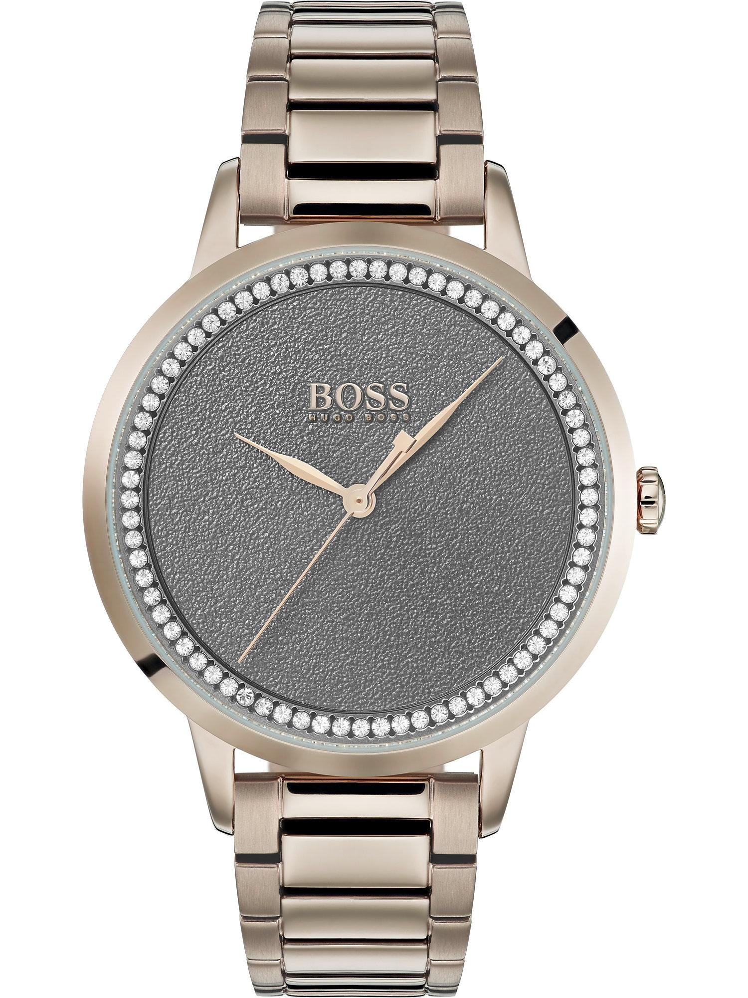 BOSS Casual Analoginis (įprasto dizaino) laikrodis rožinio aukso spalva / tamsiai pilka