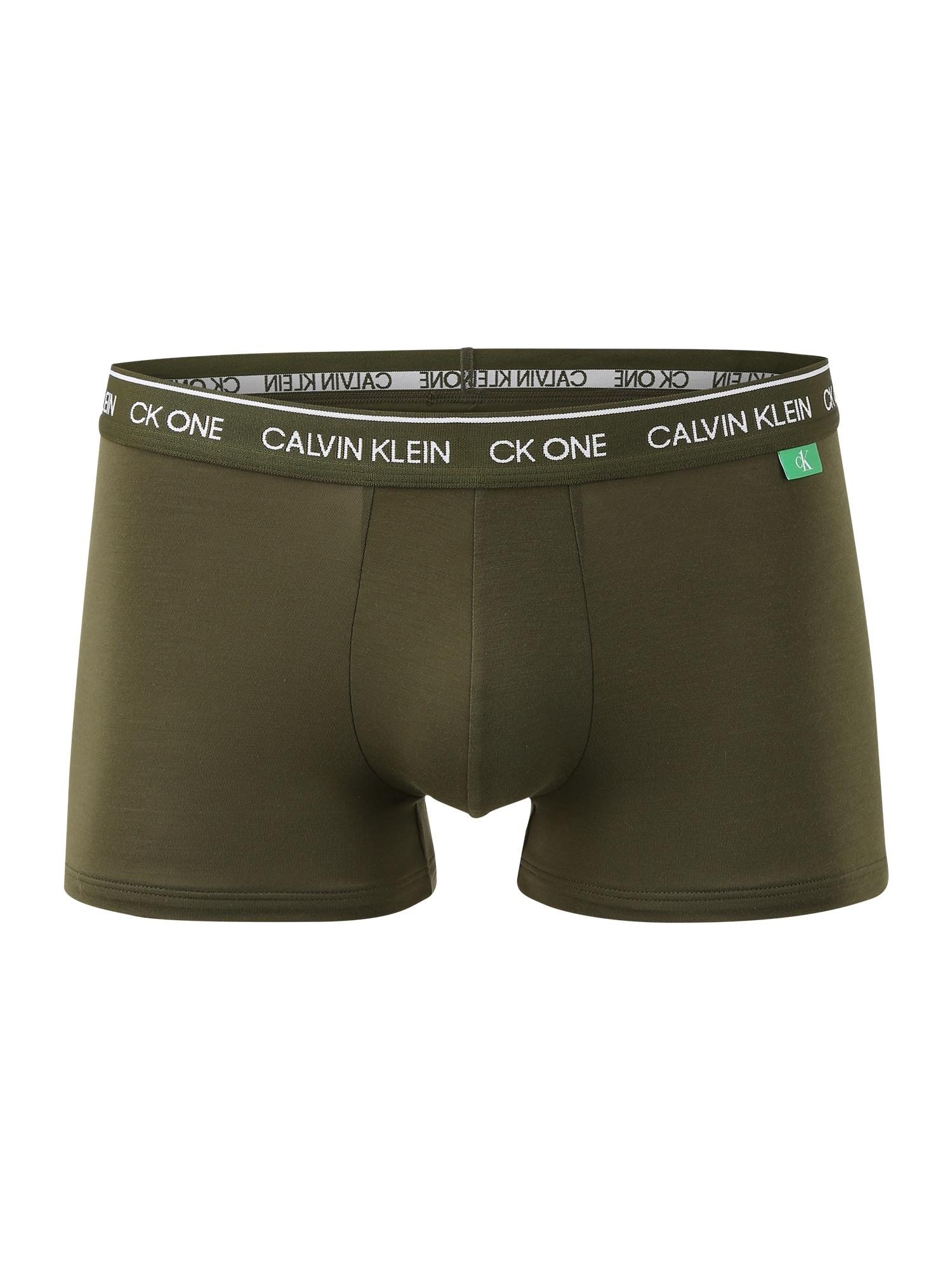 Calvin Klein Underwear Boxer trumpikės alyvuogių spalva / balta