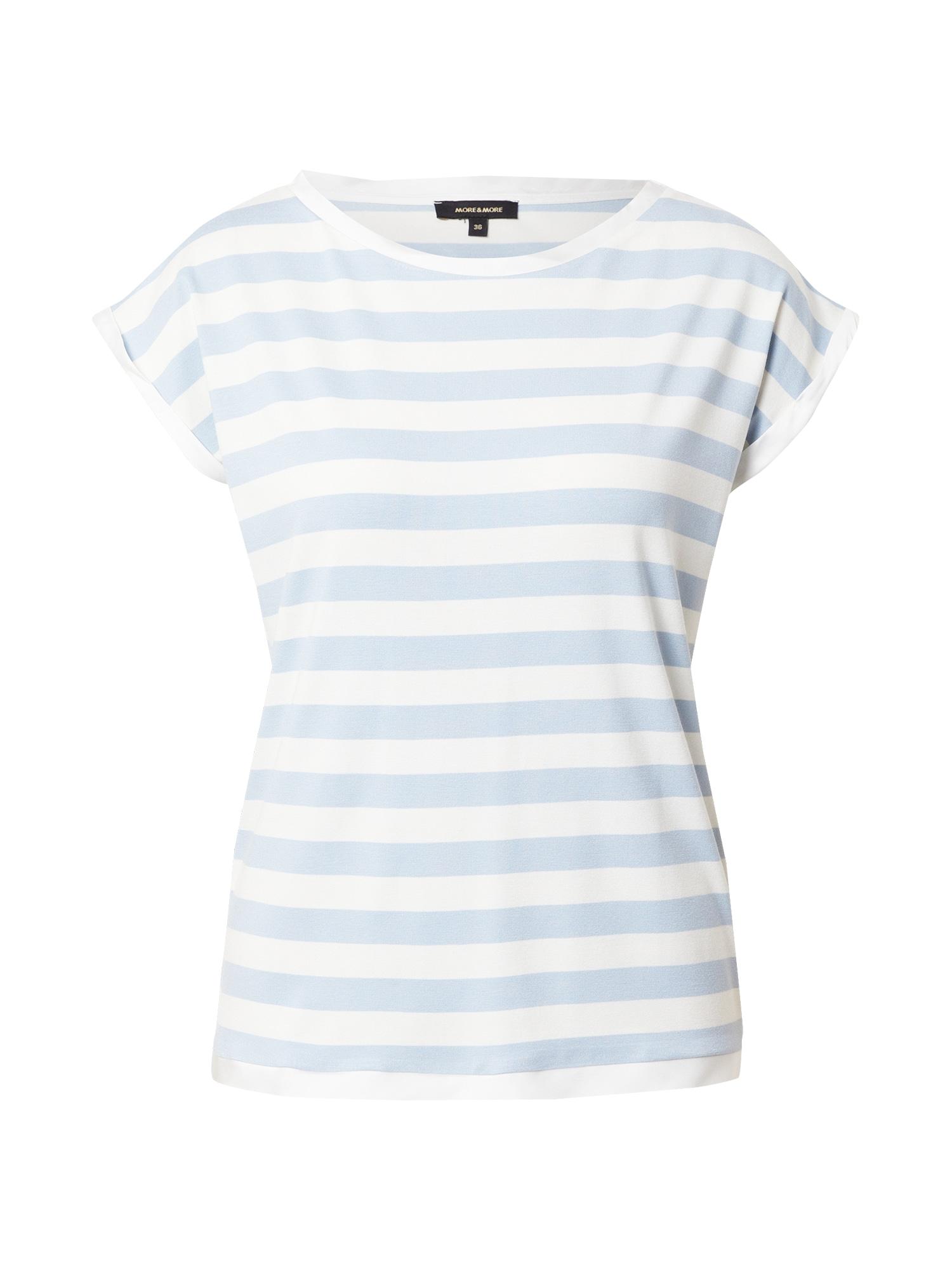 MORE & MORE Marškinėliai mėlyna / balta