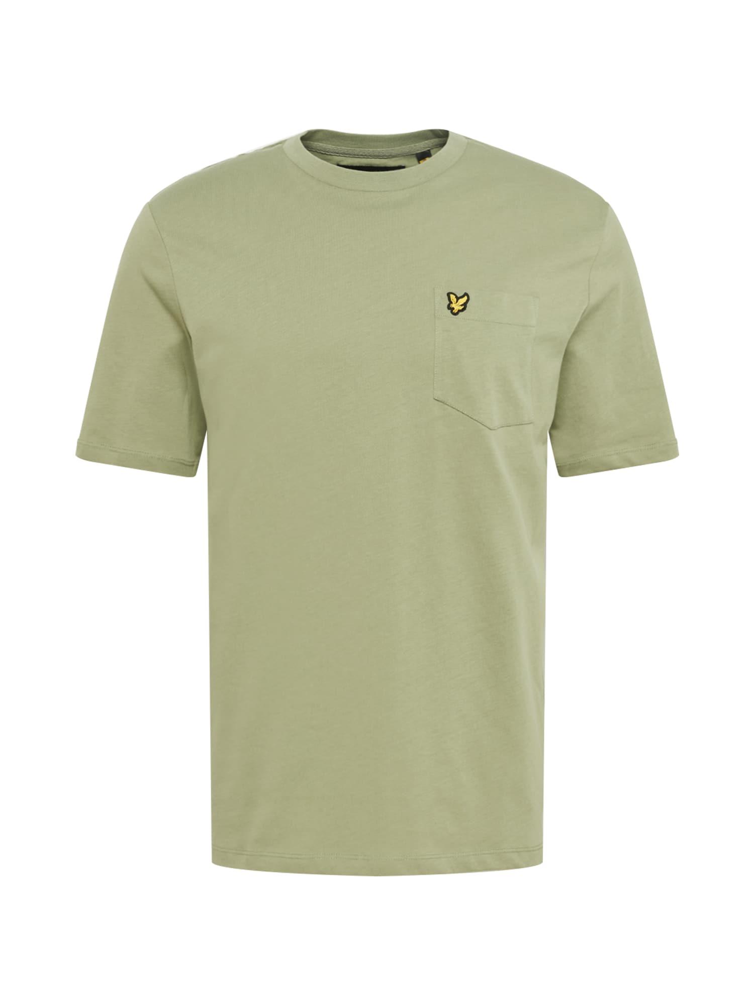 Lyle & Scott Marškinėliai rusvai žalia / juoda / geltona