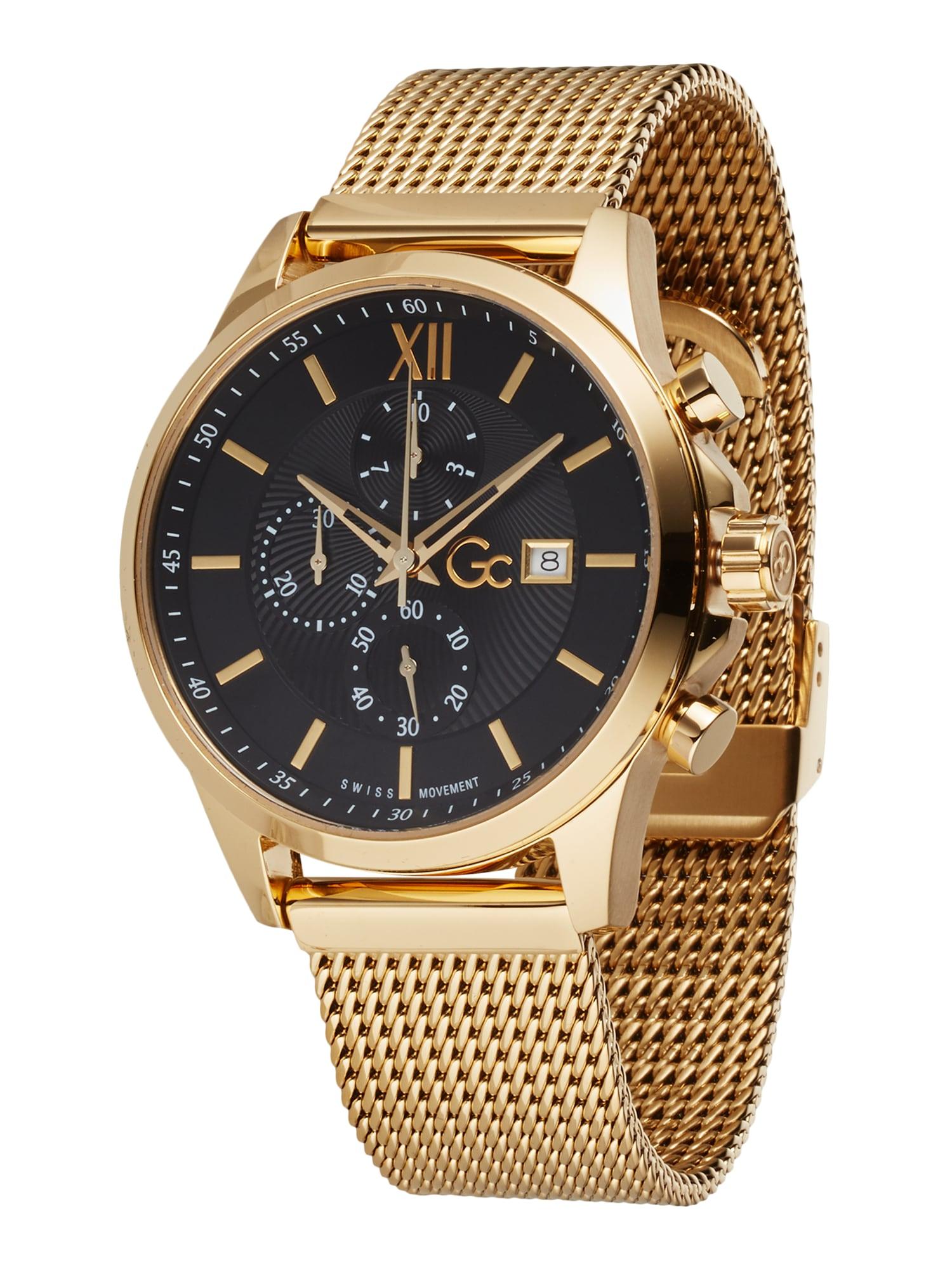 Gc Analoginis (įprasto dizaino) laikrodis 'Executive' juoda / auksas