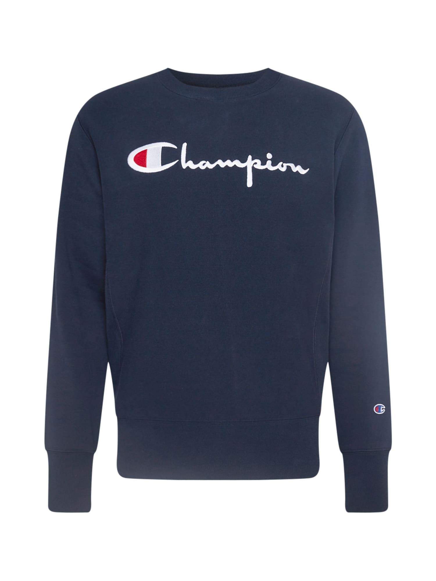 Champion Reverse Weave Megztinis be užsegimo tamsiai mėlyna / balta / raudona