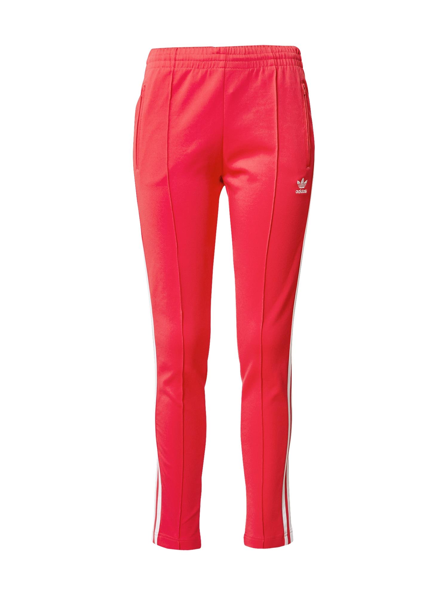 ADIDAS ORIGINALS Kalhoty  tmavě růžová / bílá