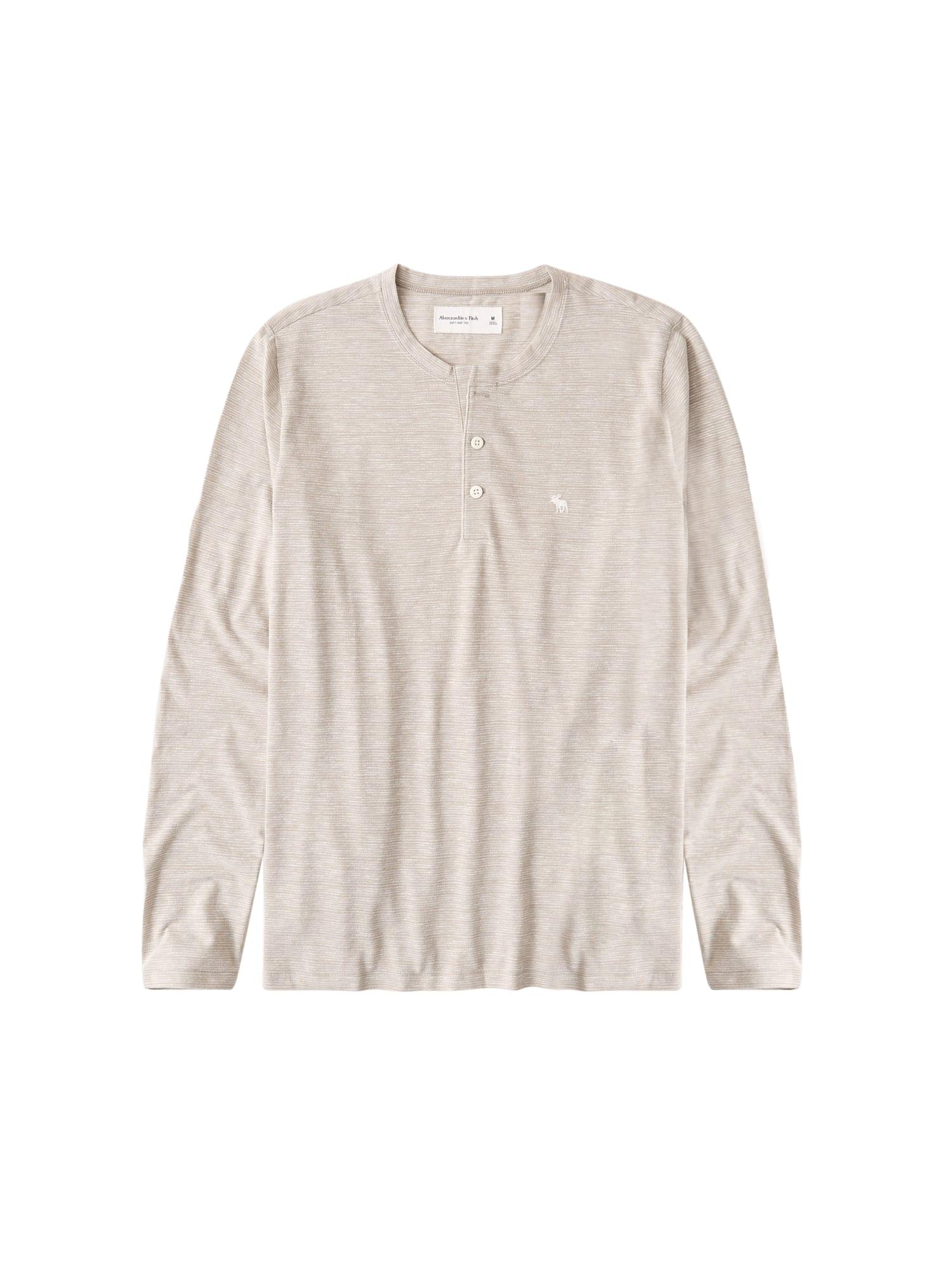Abercrombie & Fitch Marškinėliai šviesiai ruda / balta