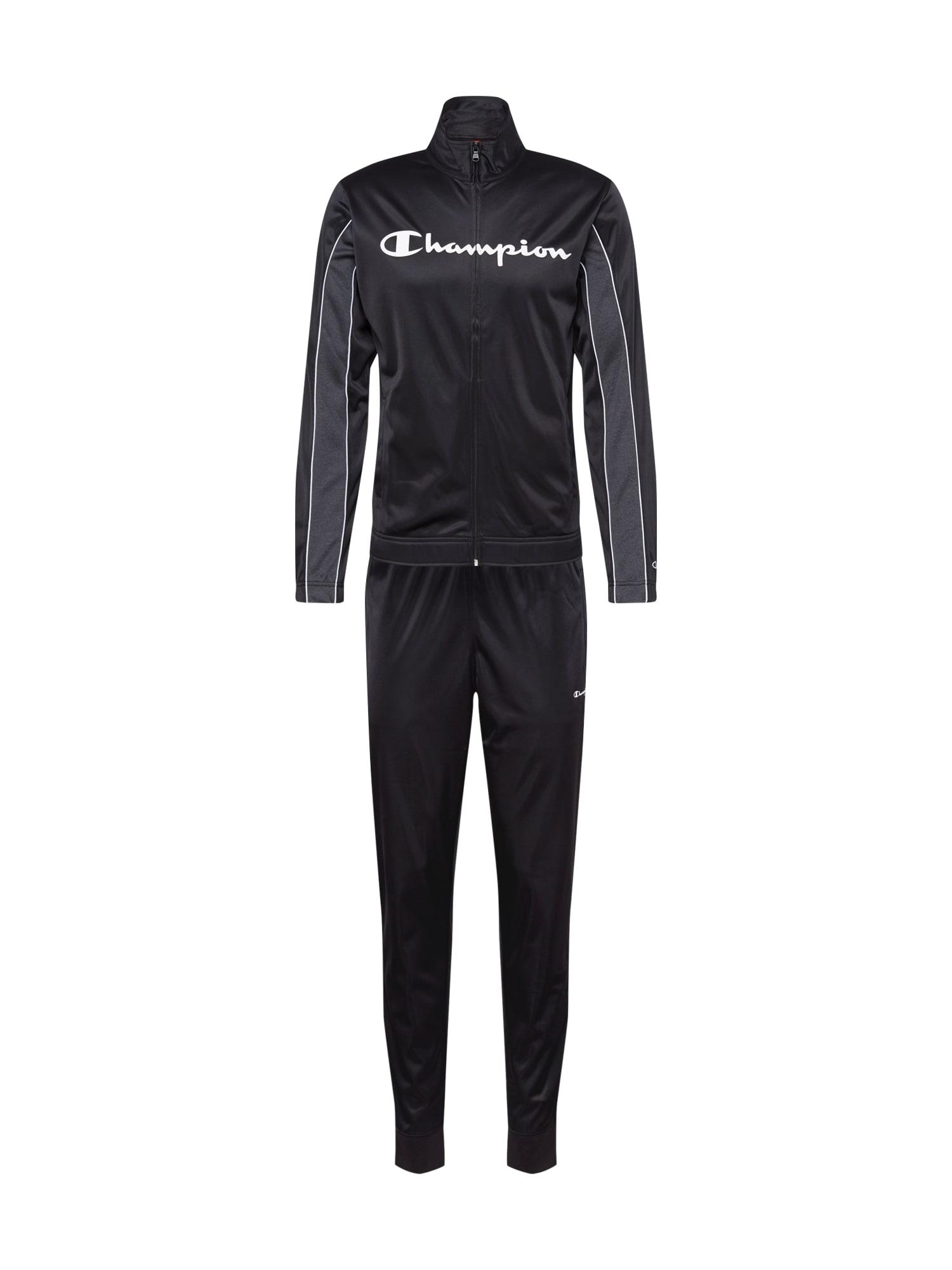 Champion Authentic Athletic Apparel Sportovní souprava  bílá / černá / šedá