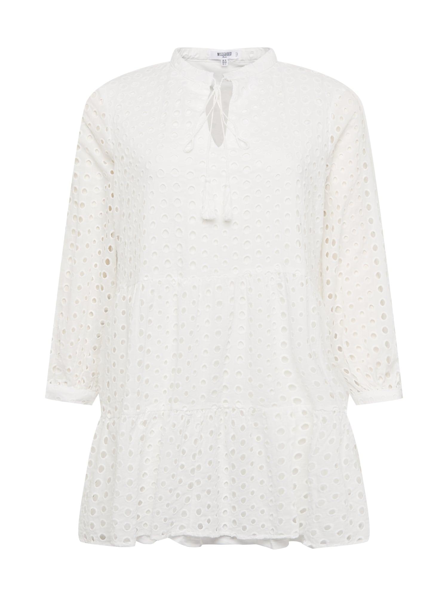 Missguided Plus Palaidinės tipo suknelė balta