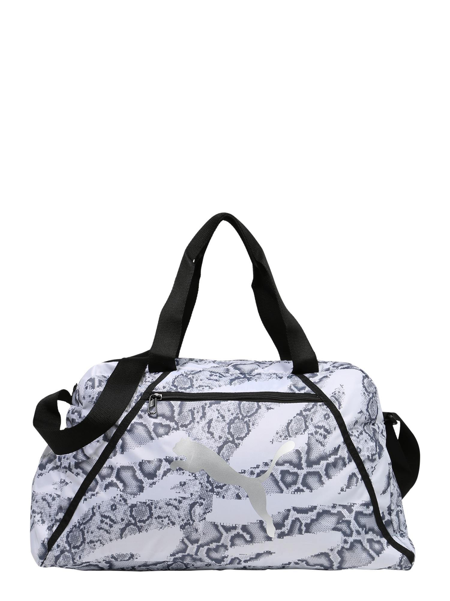 PUMA Sportinis krepšys balta / pilka