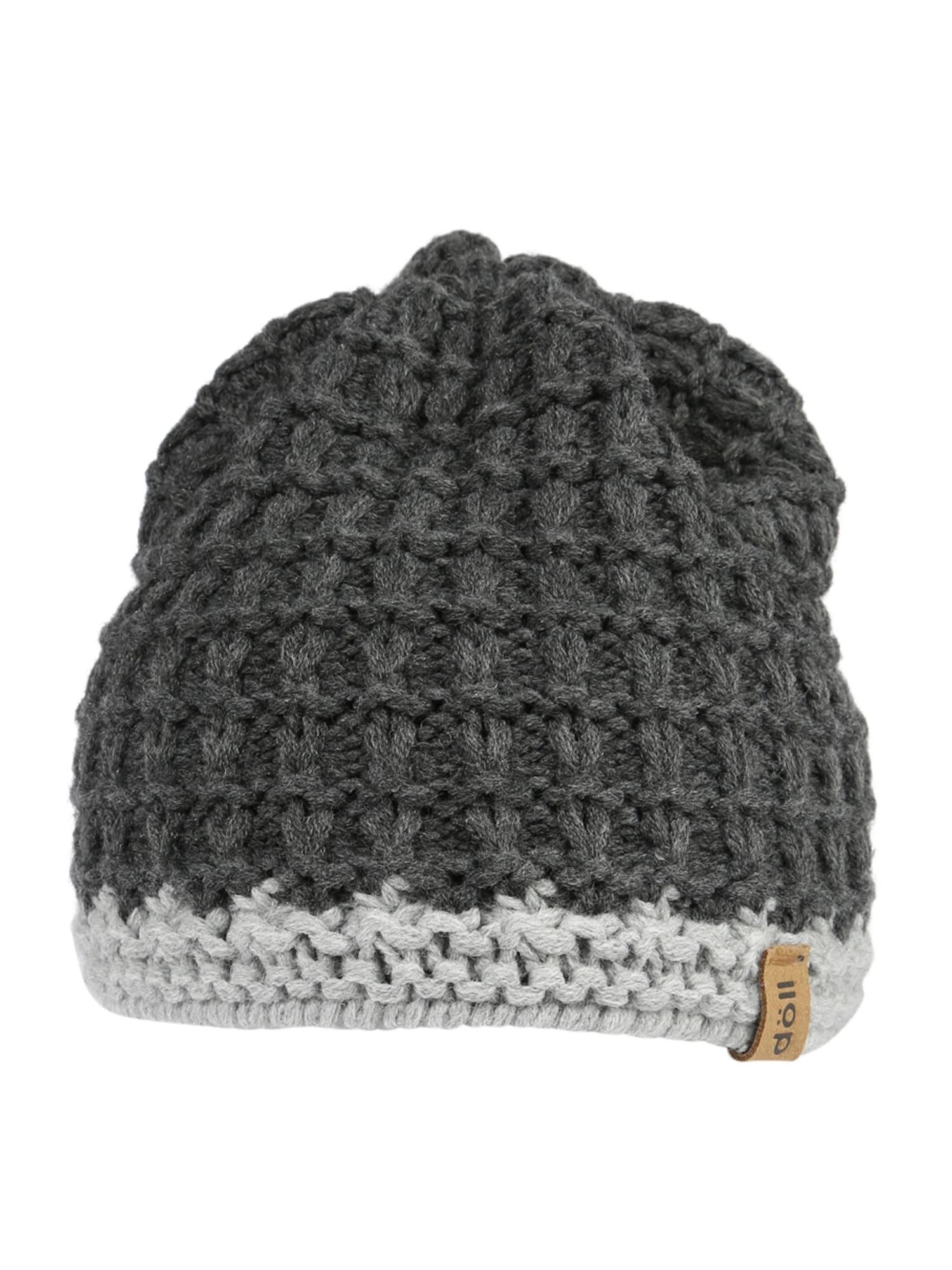 DÖLL Megzta kepurė antracito spalva / šviesiai pilka