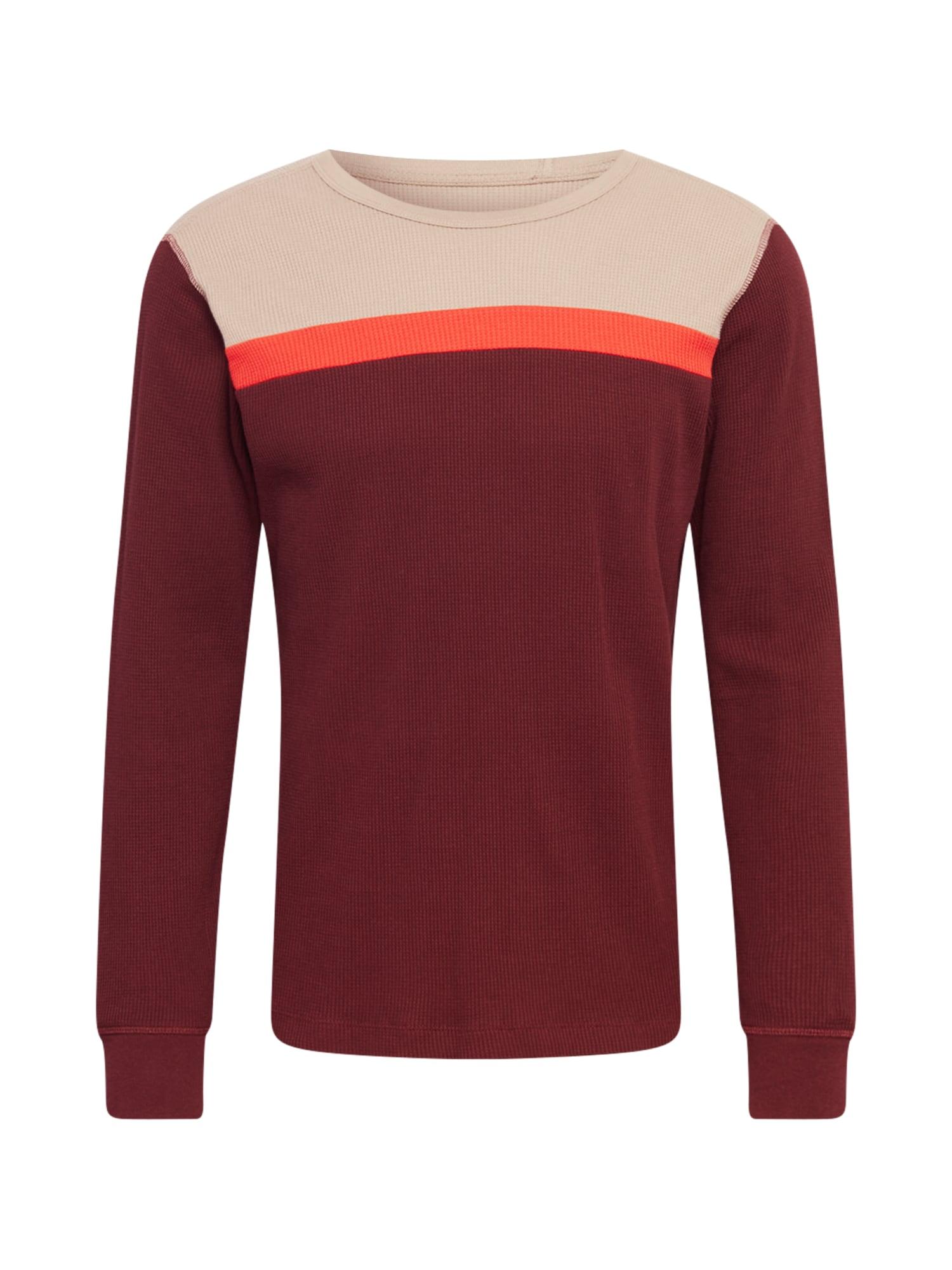 GAP Marškinėliai vyno raudona spalva / oranžinė / smėlio