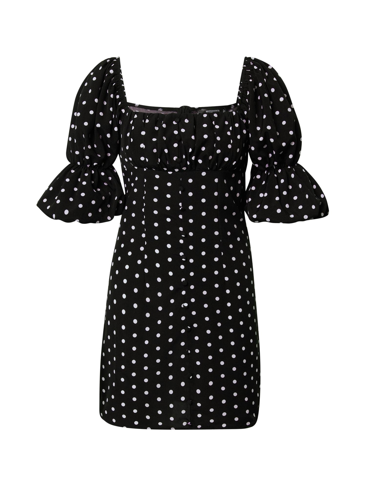 Missguided Šaty  černá / bílá