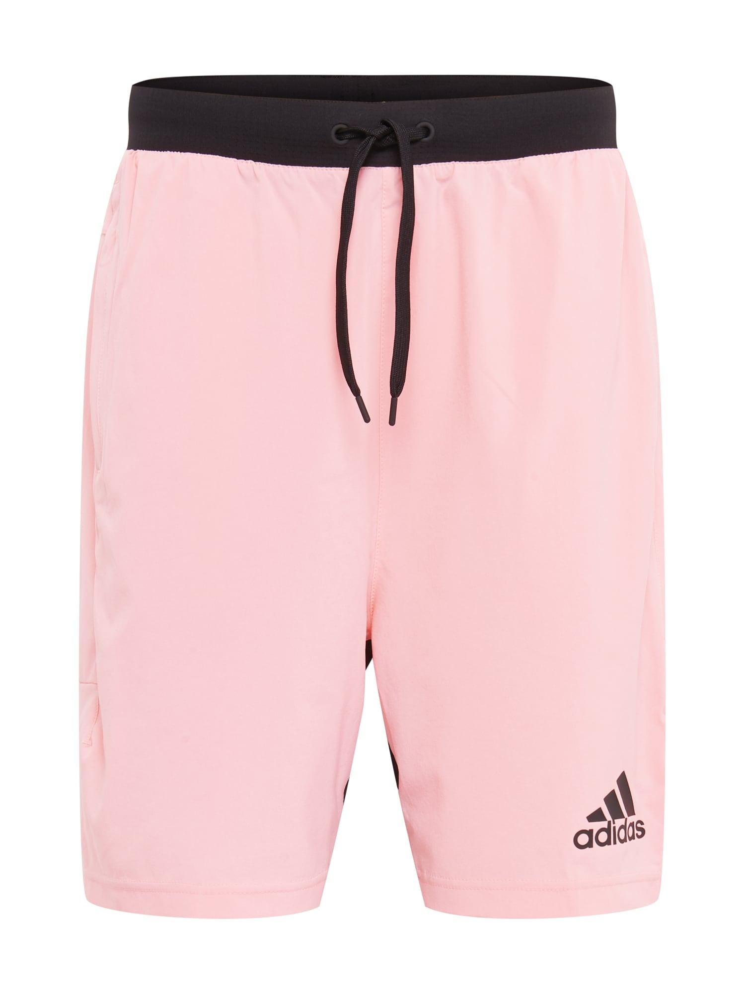 ADIDAS PERFORMANCE Sportovní kalhoty  černá / růžová