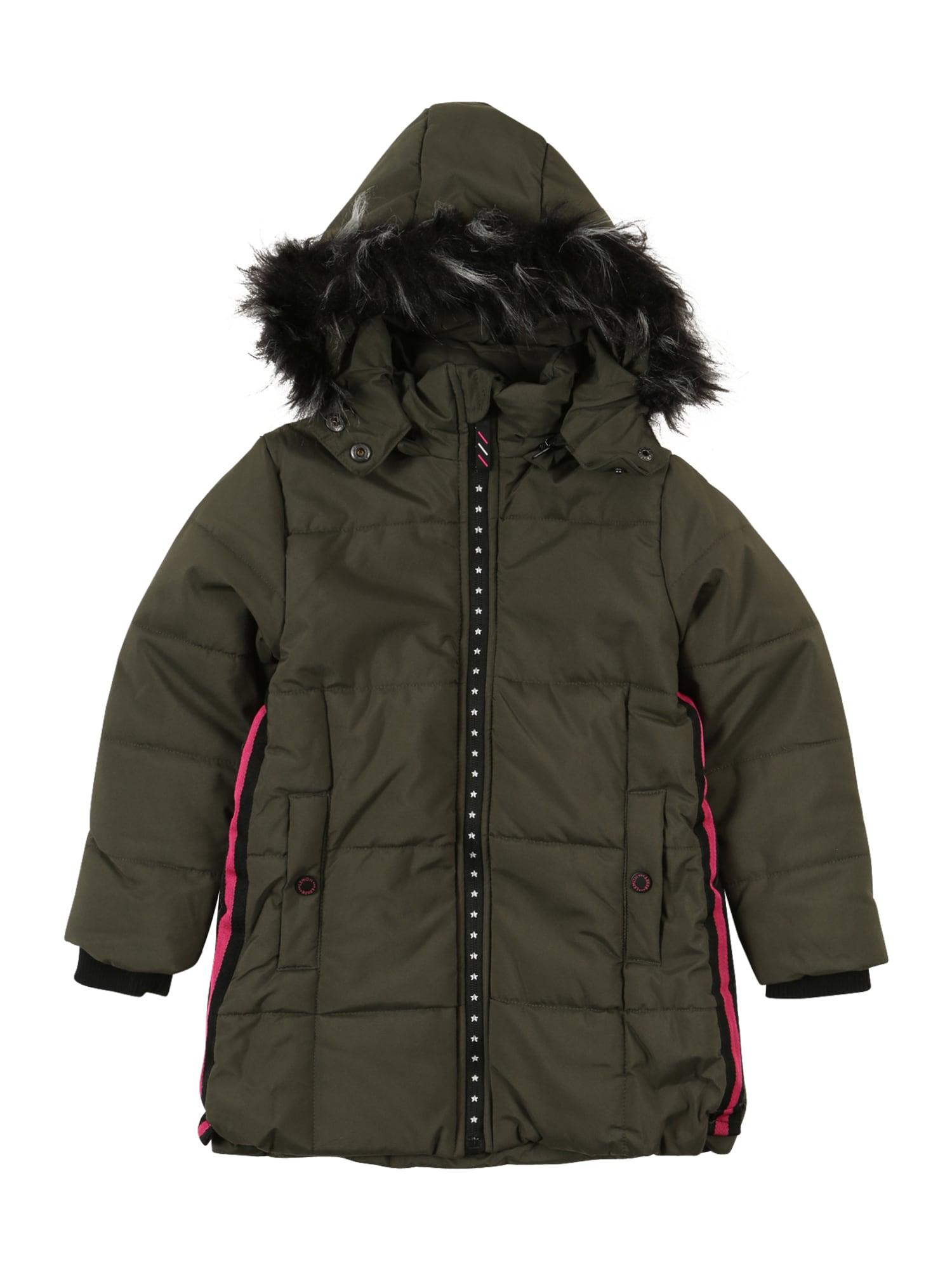 LEMON BERET Žieminė striukė rusvai žalia / rožinė / juoda