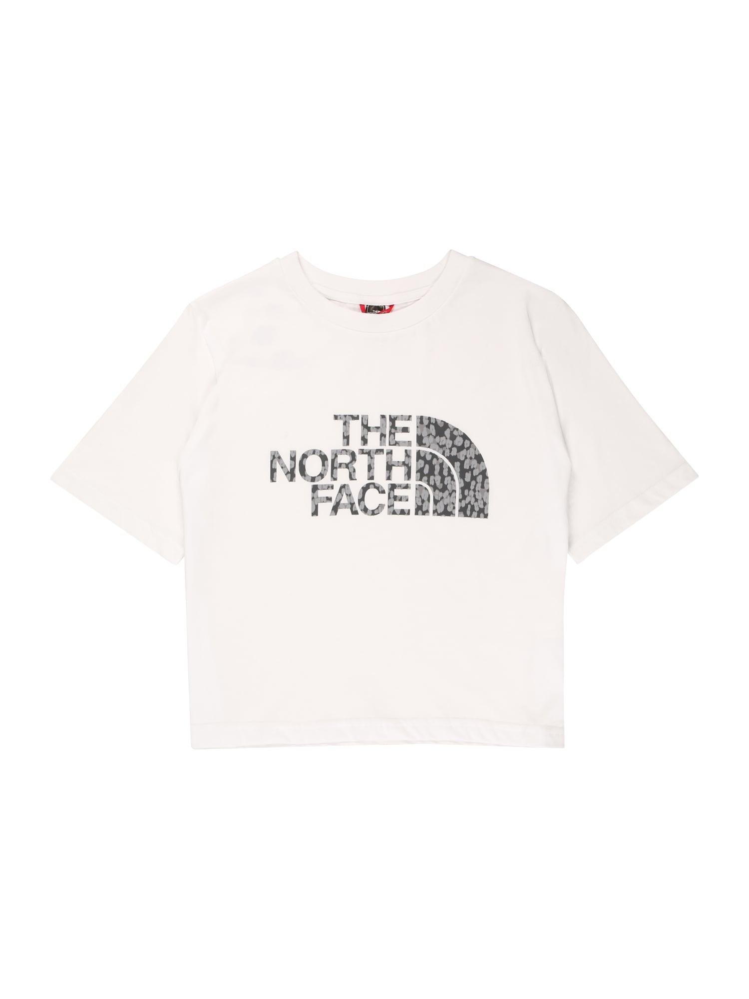 THE NORTH FACE Funkční tričko  bílá / černá / šedá