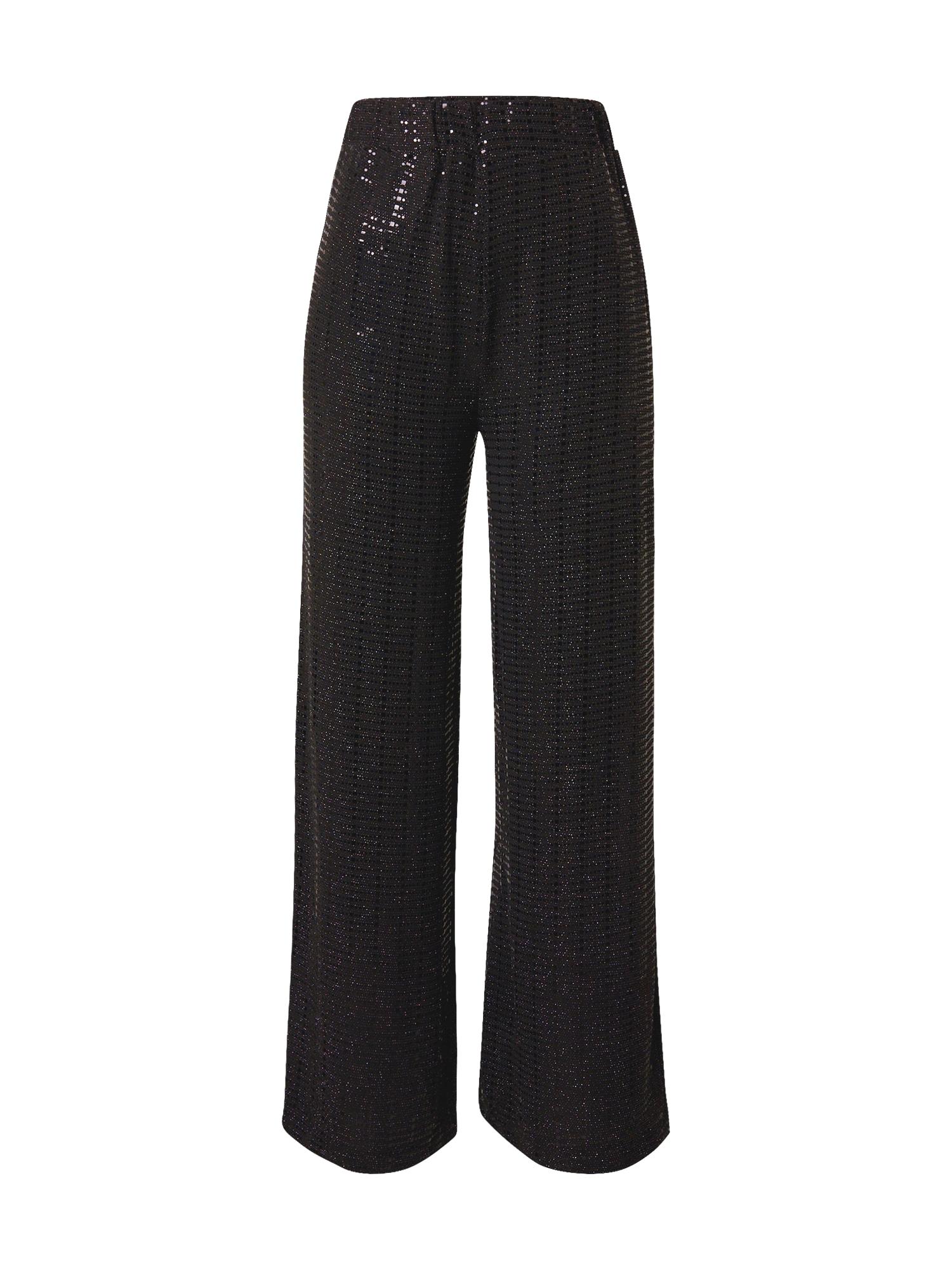 SELECTED FEMME Kalhoty 'Sandra'  černá / stříbrná