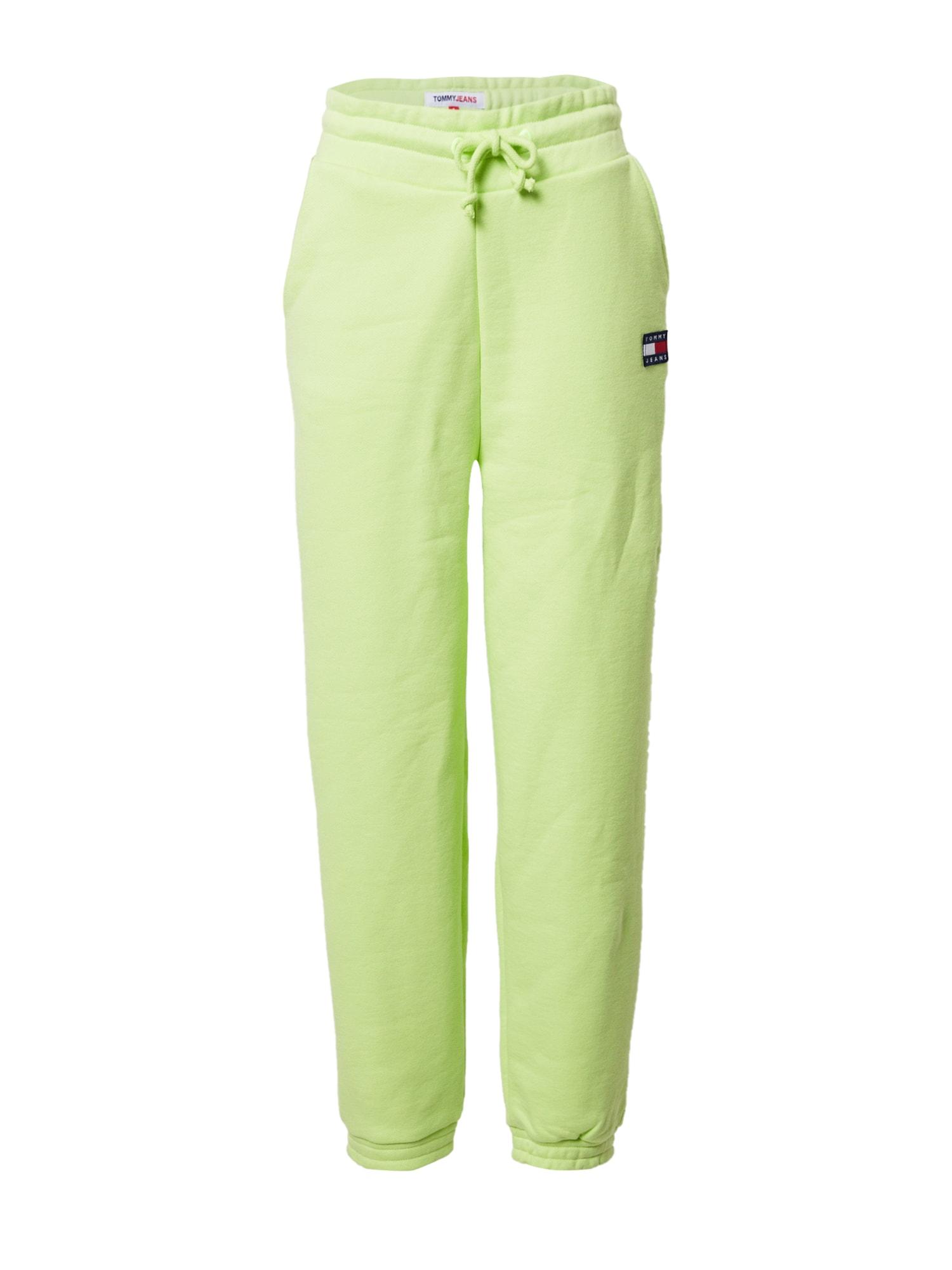 Tommy Jeans Kelnės žaliosios citrinos spalva