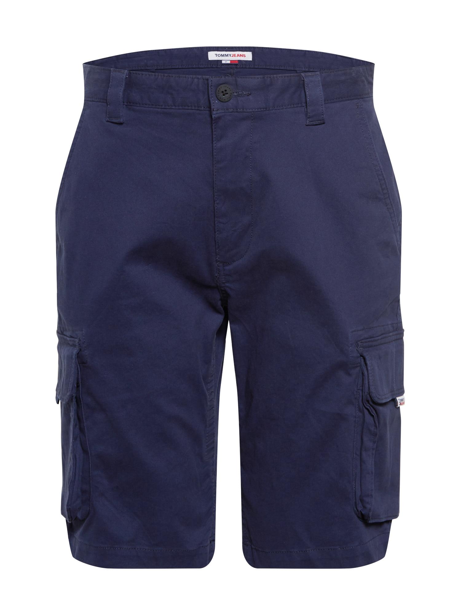 Tommy Jeans Laisvo stiliaus kelnės tamsiai mėlyna