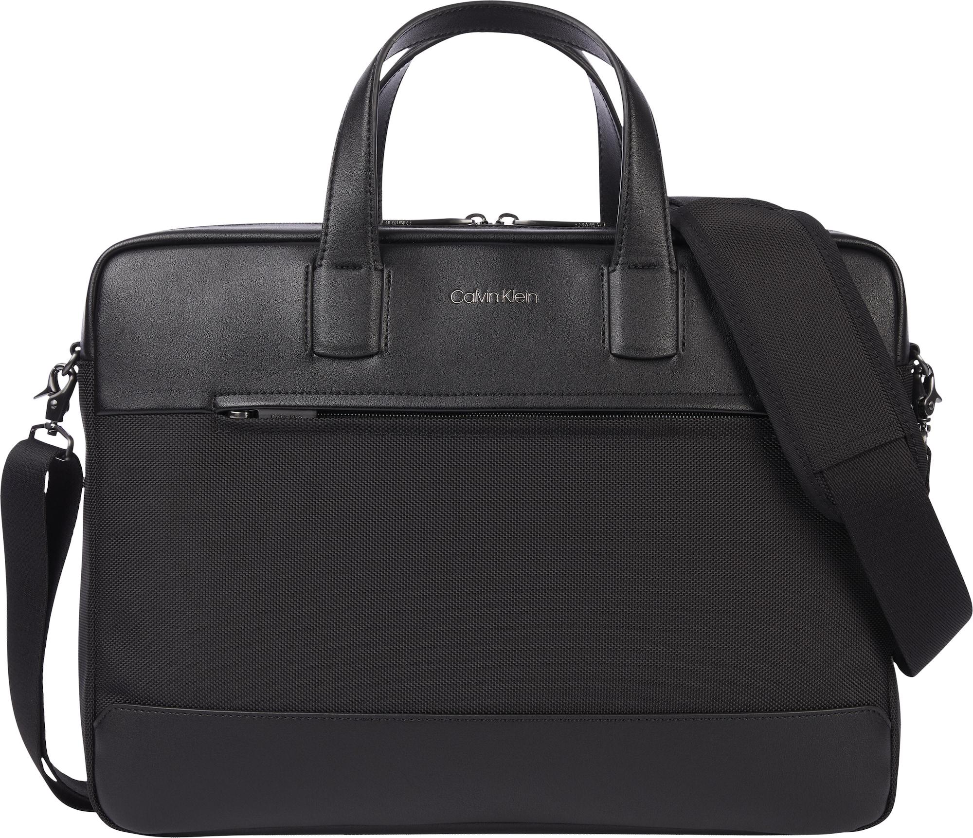 "Calvin Klein ""Messenger"" stiliaus rankinė juoda"