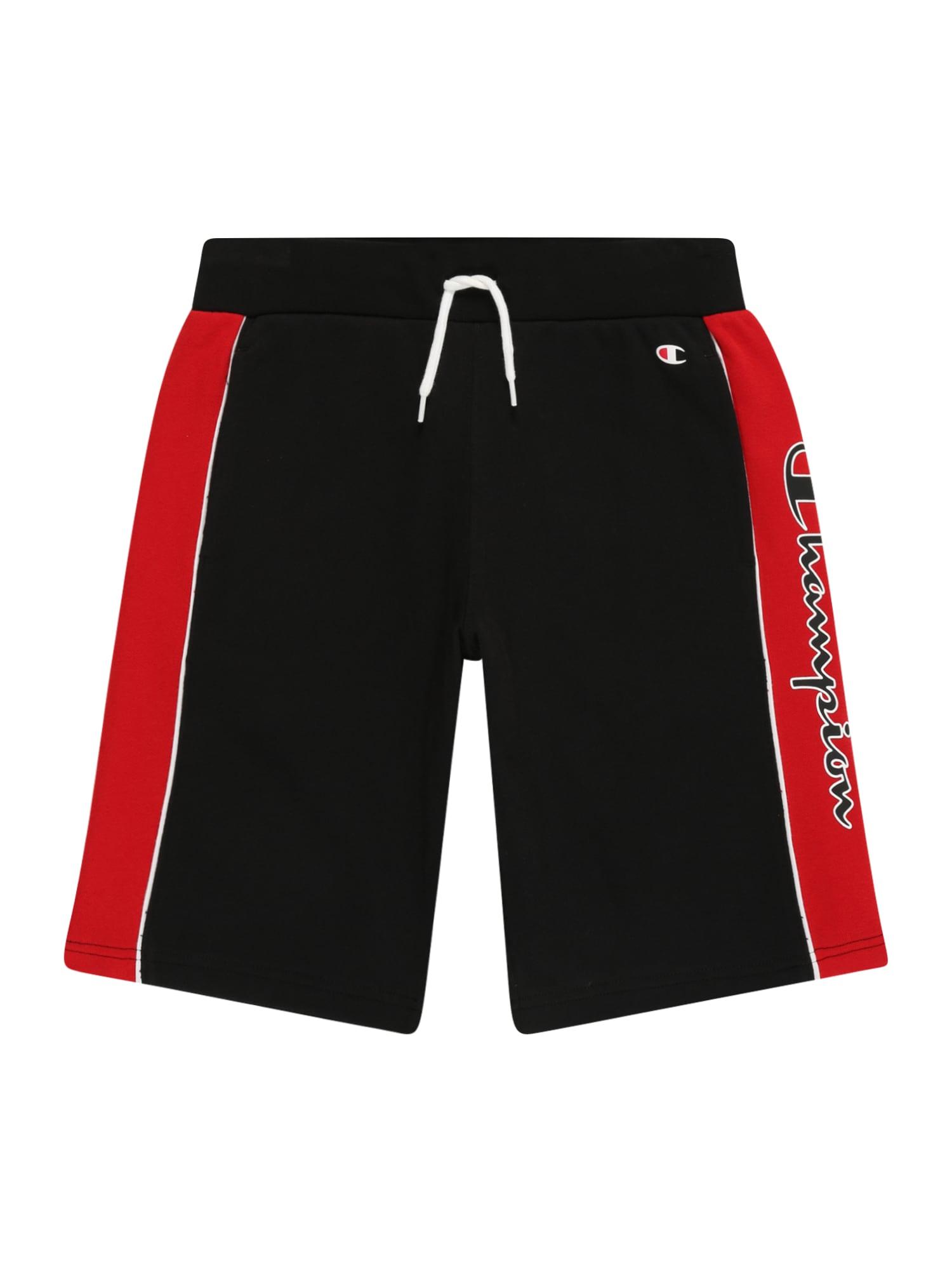 Champion Authentic Athletic Apparel Kelnės juoda / raudona / balta