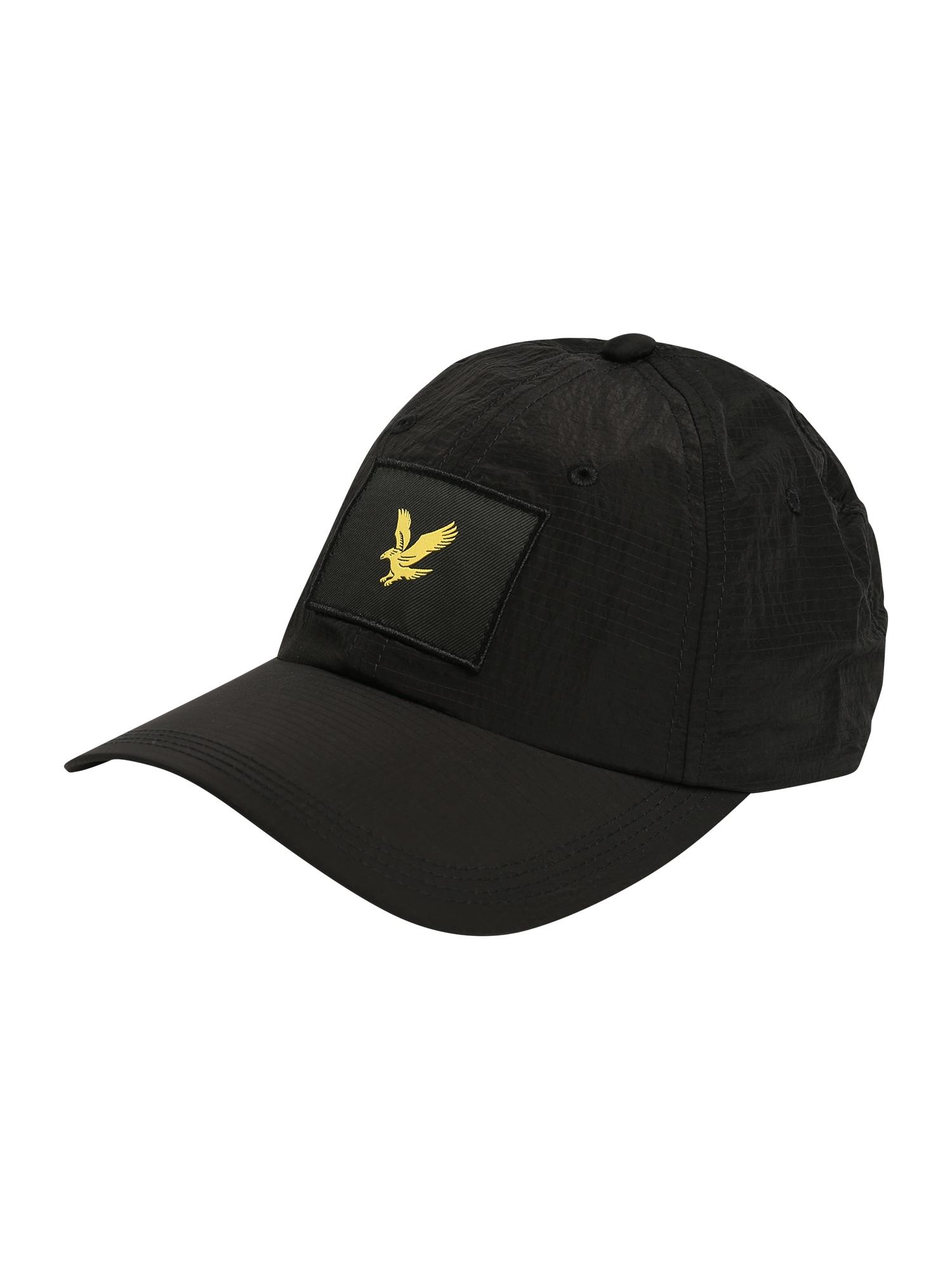 Lyle & Scott Kepurė juoda / geltona