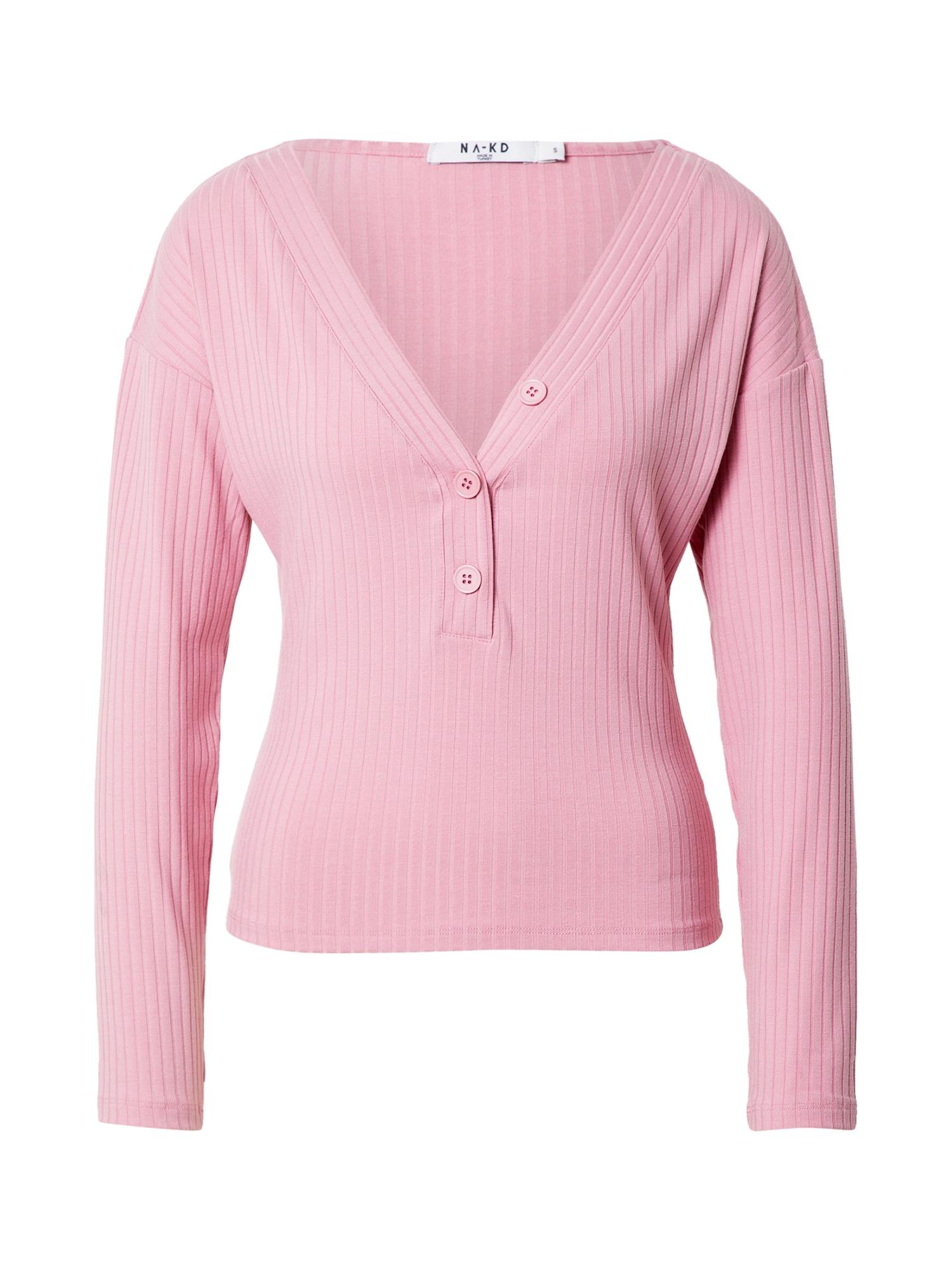 NA-KD Marškinėliai šviesiai rožinė
