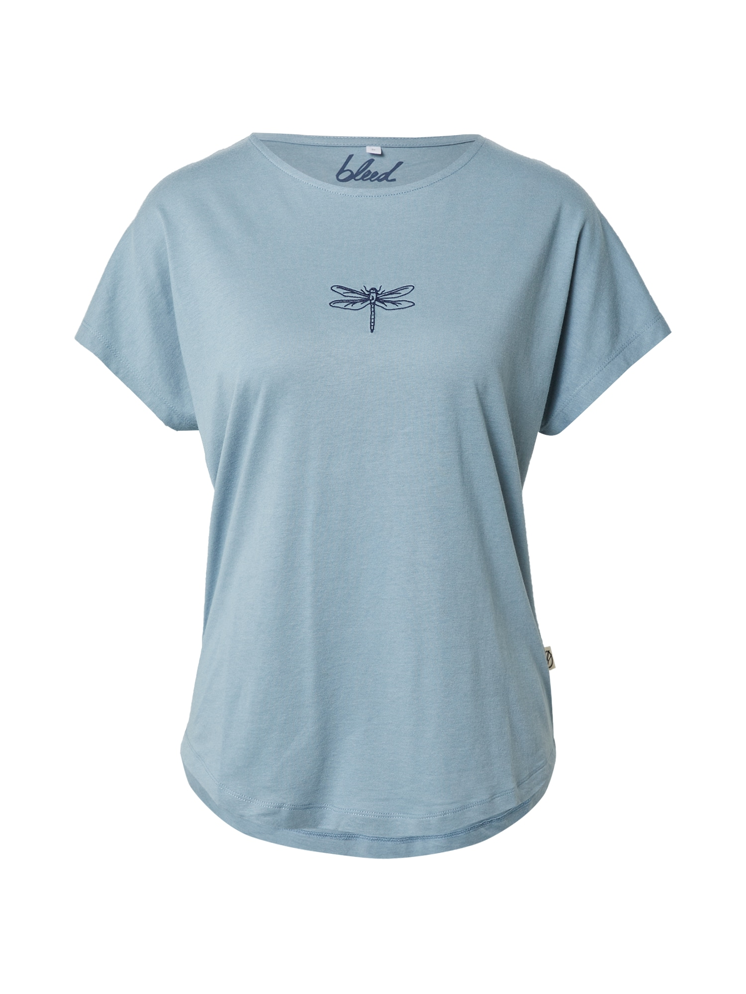 bleed clothing Marškinėliai mėlyna dūmų spalva / tamsiai mėlyna