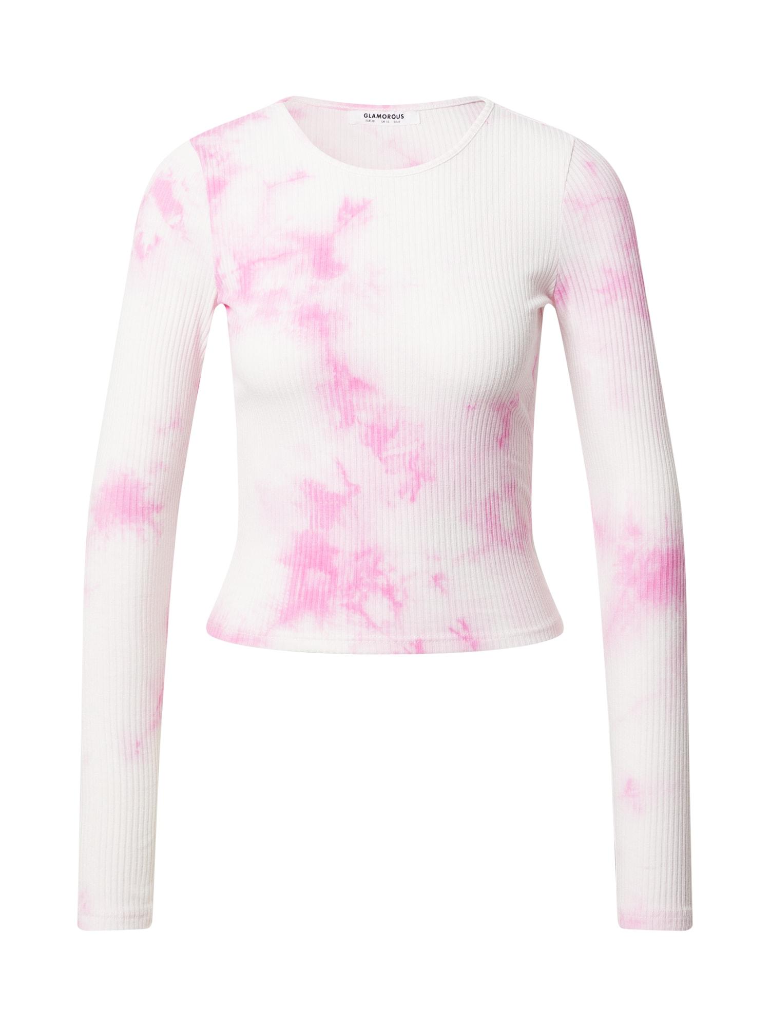 GLAMOROUS Marškinėliai balta / rožinė