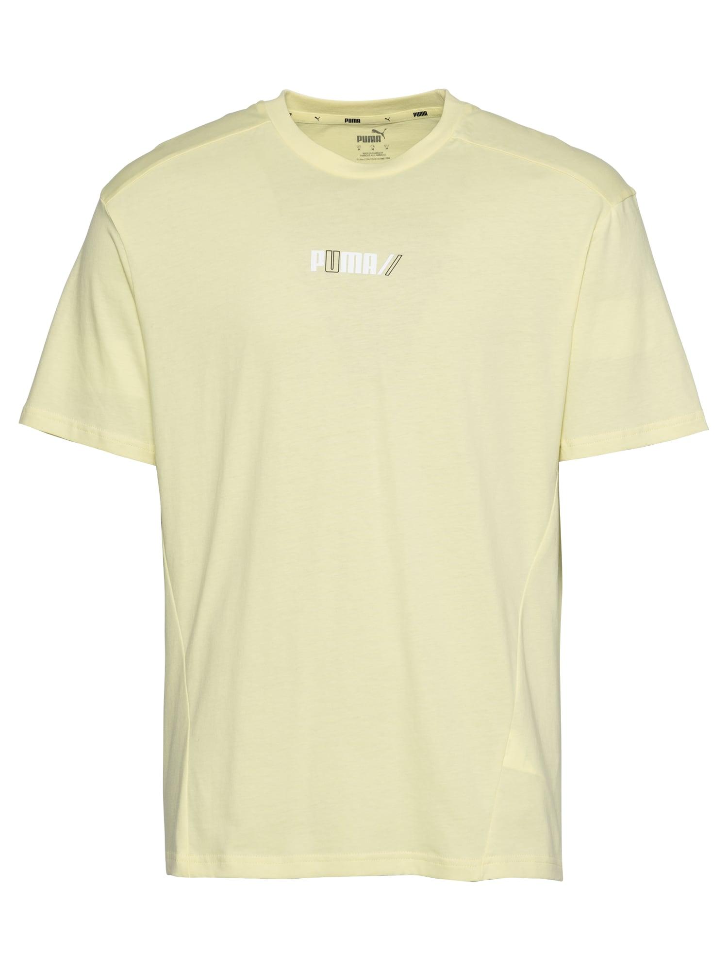 PUMA Sportiniai marškinėliai šviesiai geltona / juoda / balta