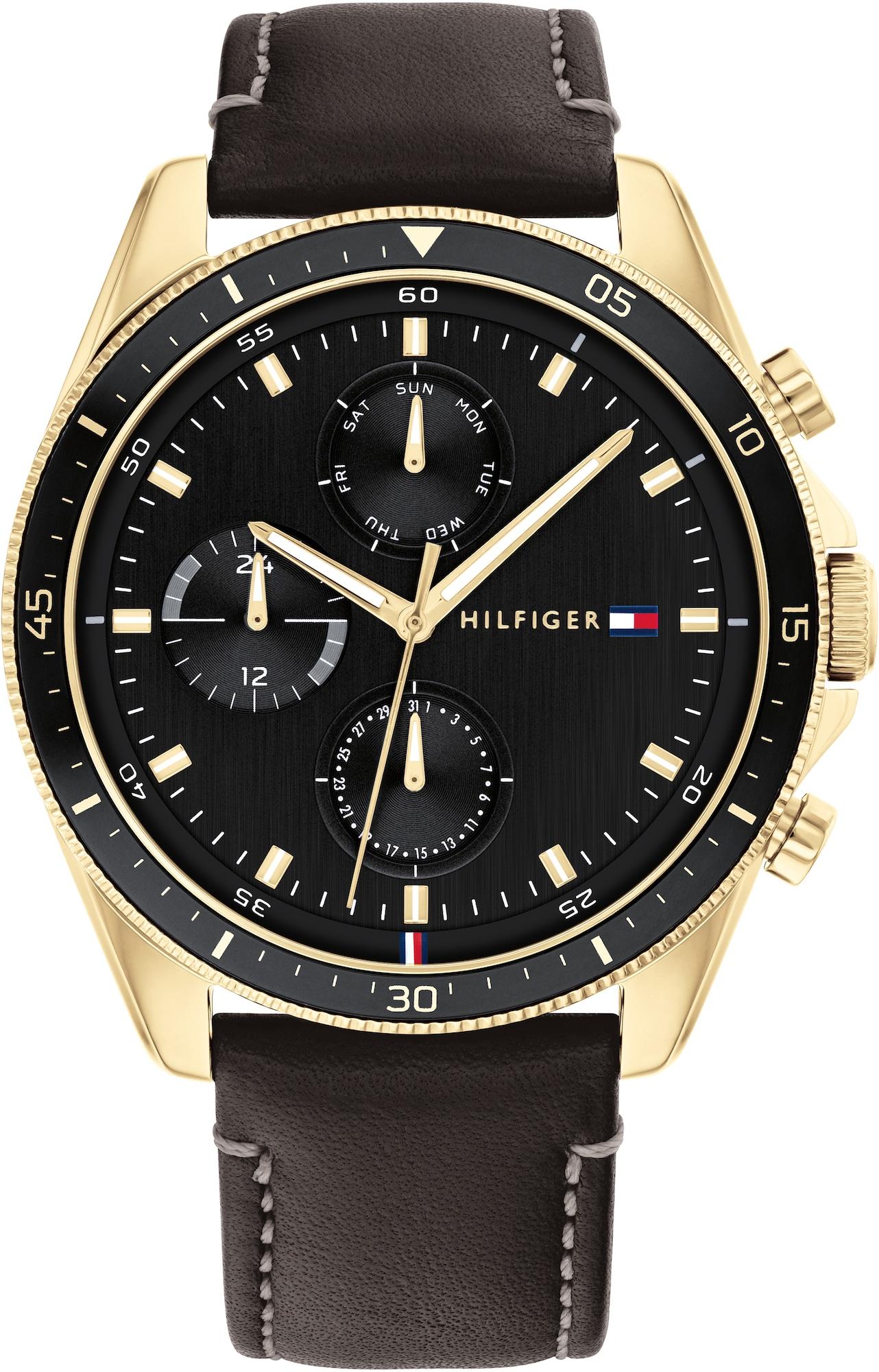 TOMMY HILFIGER Analoginis (įprasto dizaino) laikrodis auksas / juoda