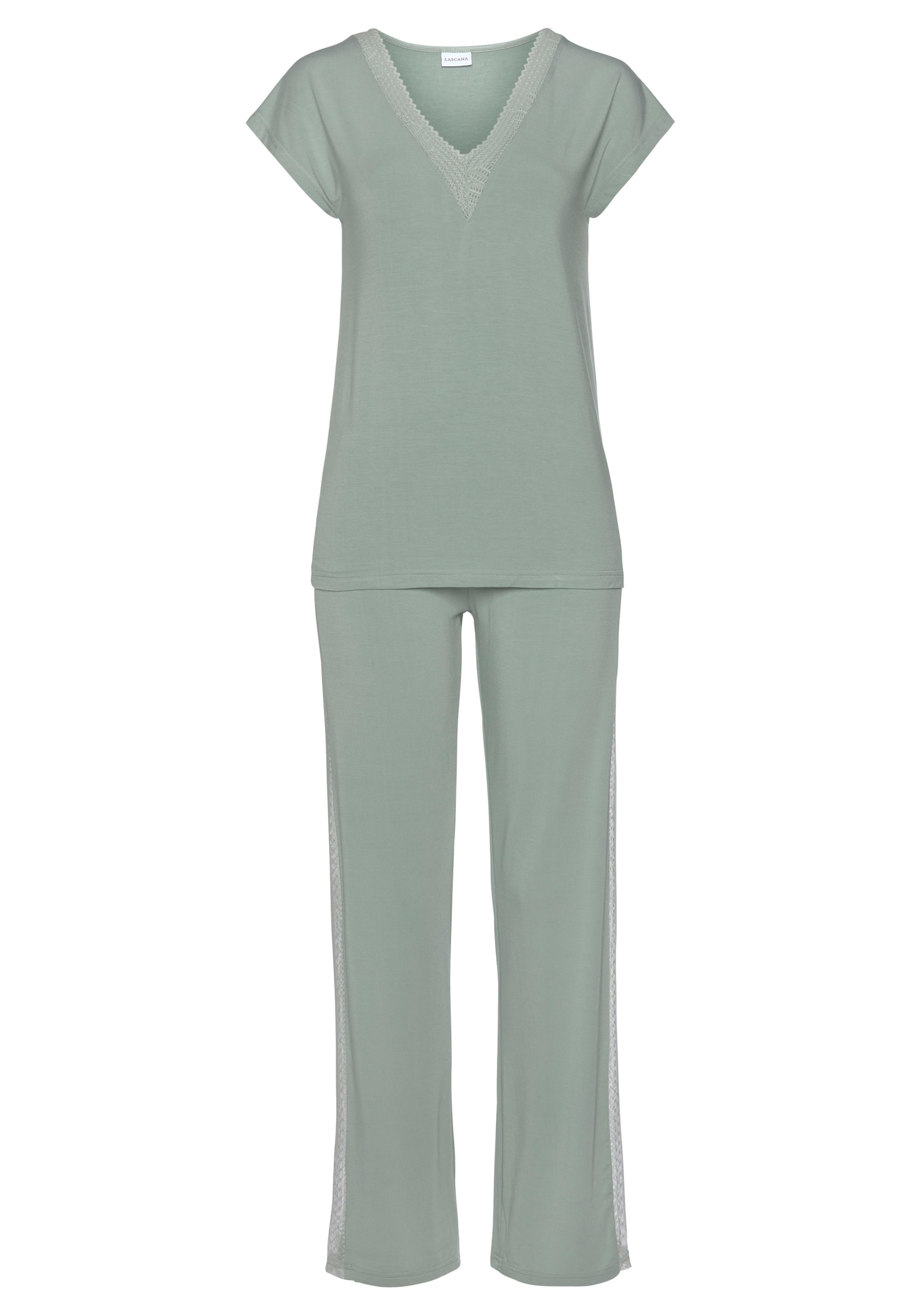 LASCANA Pyžamo  pastelově zelená