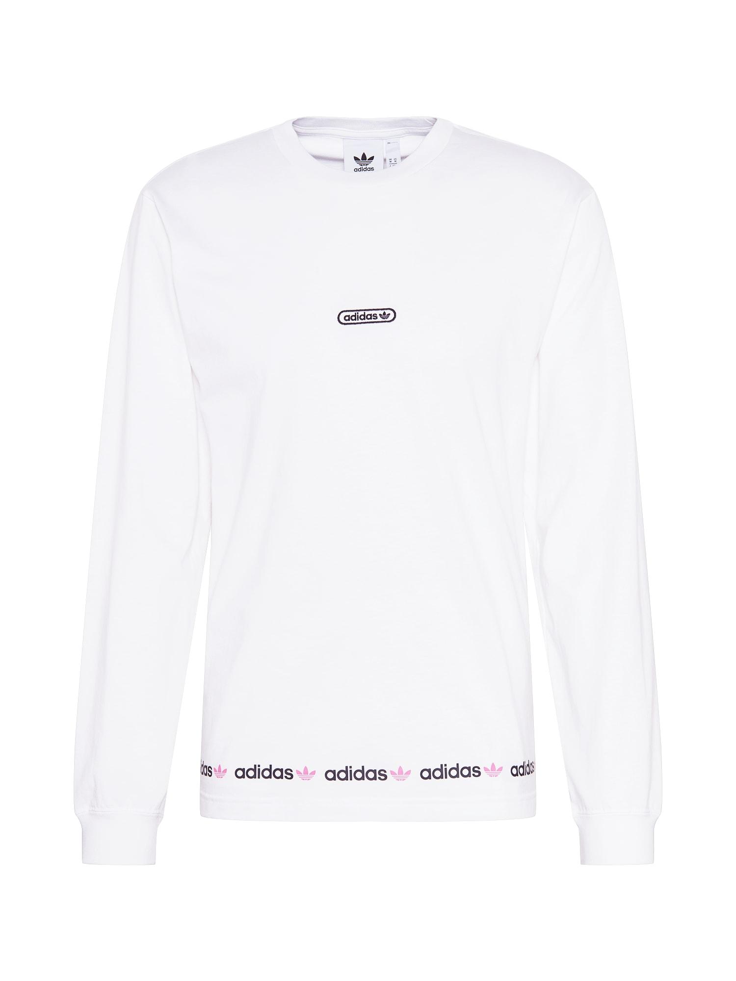 ADIDAS ORIGINALS Marškinėliai balta / purpurinė / baklažano spalva