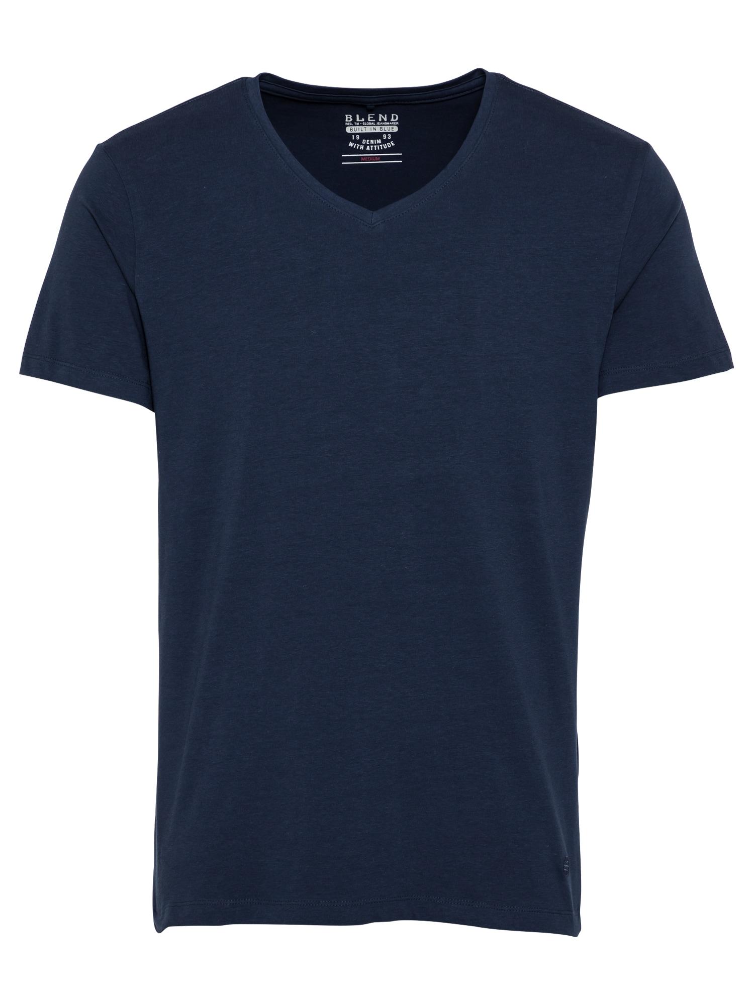 BLEND Tričko 'Nico'  námořnická modř