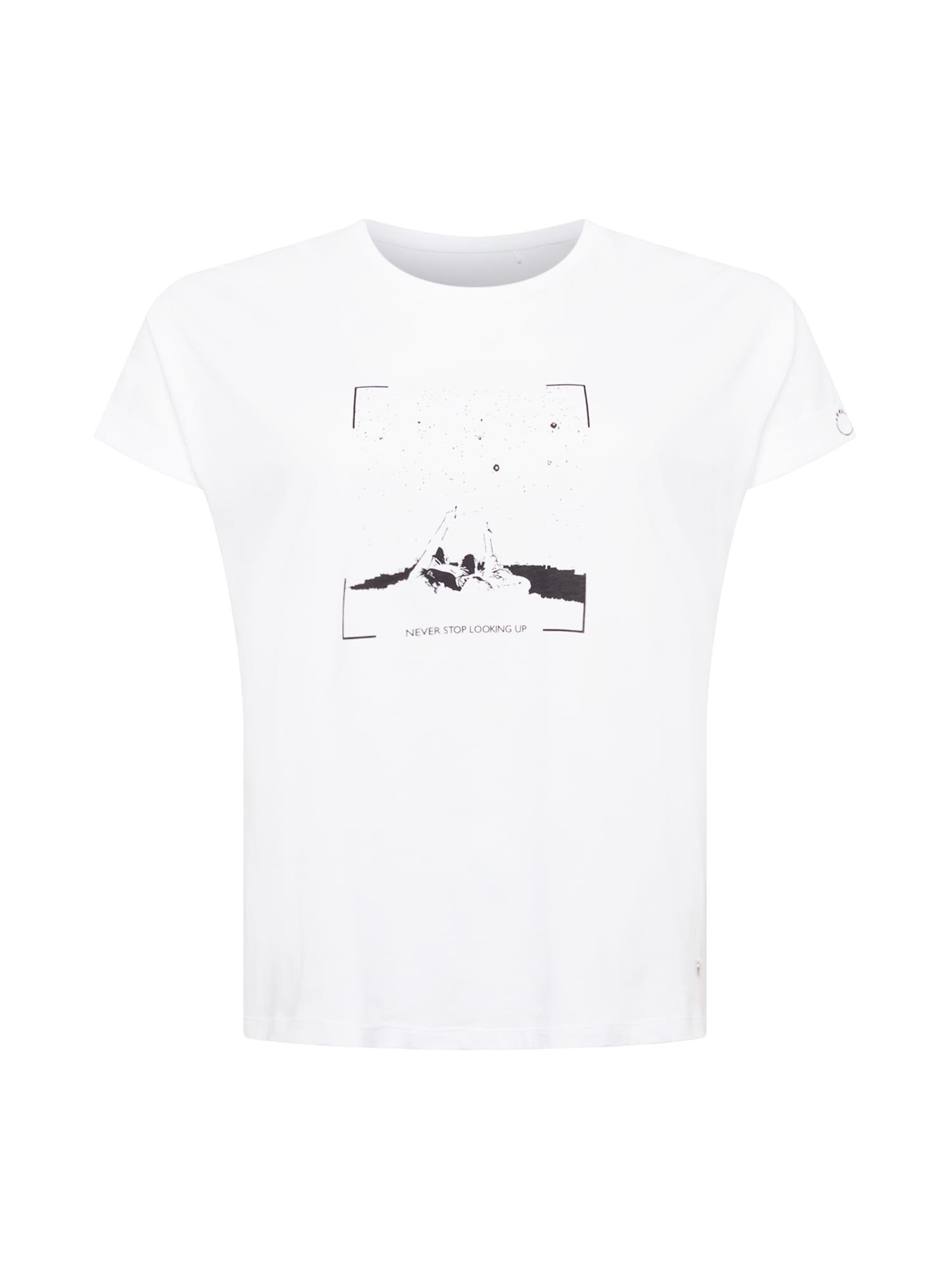 SAMOON Marškinėliai balta / juoda