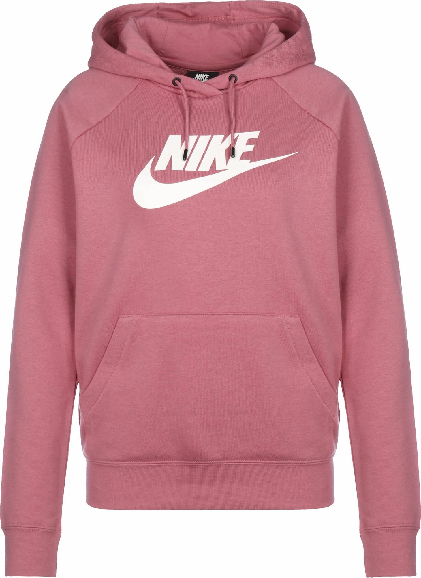 Nike Sportswear Mikina  bílá / pitaya
