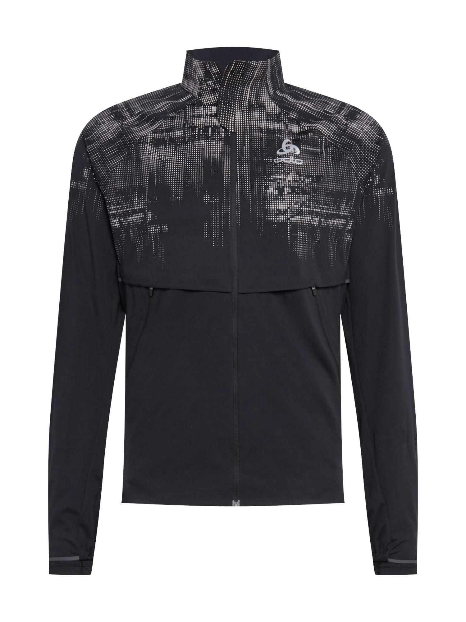 ODLO Sportovní bunda 'Pro Warm Reflect'  černá / bílá