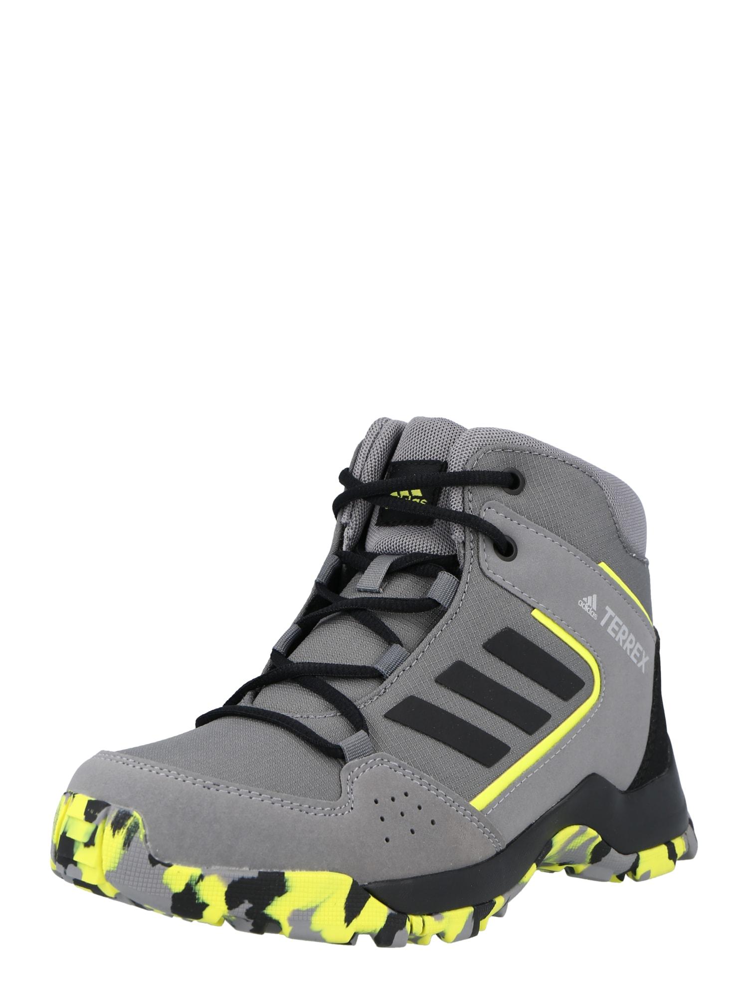 ADIDAS PERFORMANCE Auliniai batai grafito / juoda / neoninė geltona
