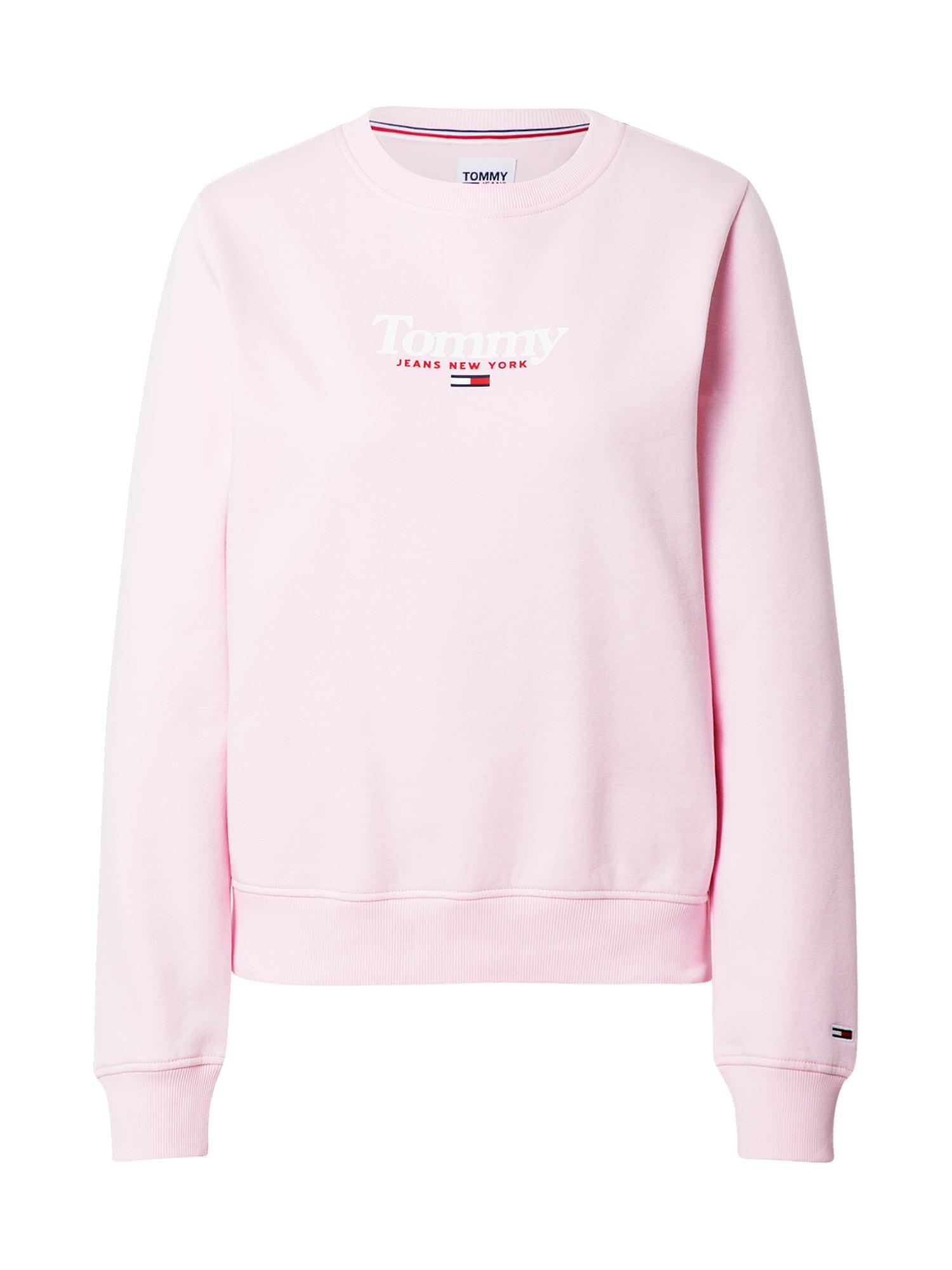 Tommy Jeans Mikina 'Essential'  pink / červená / bílá / modrá