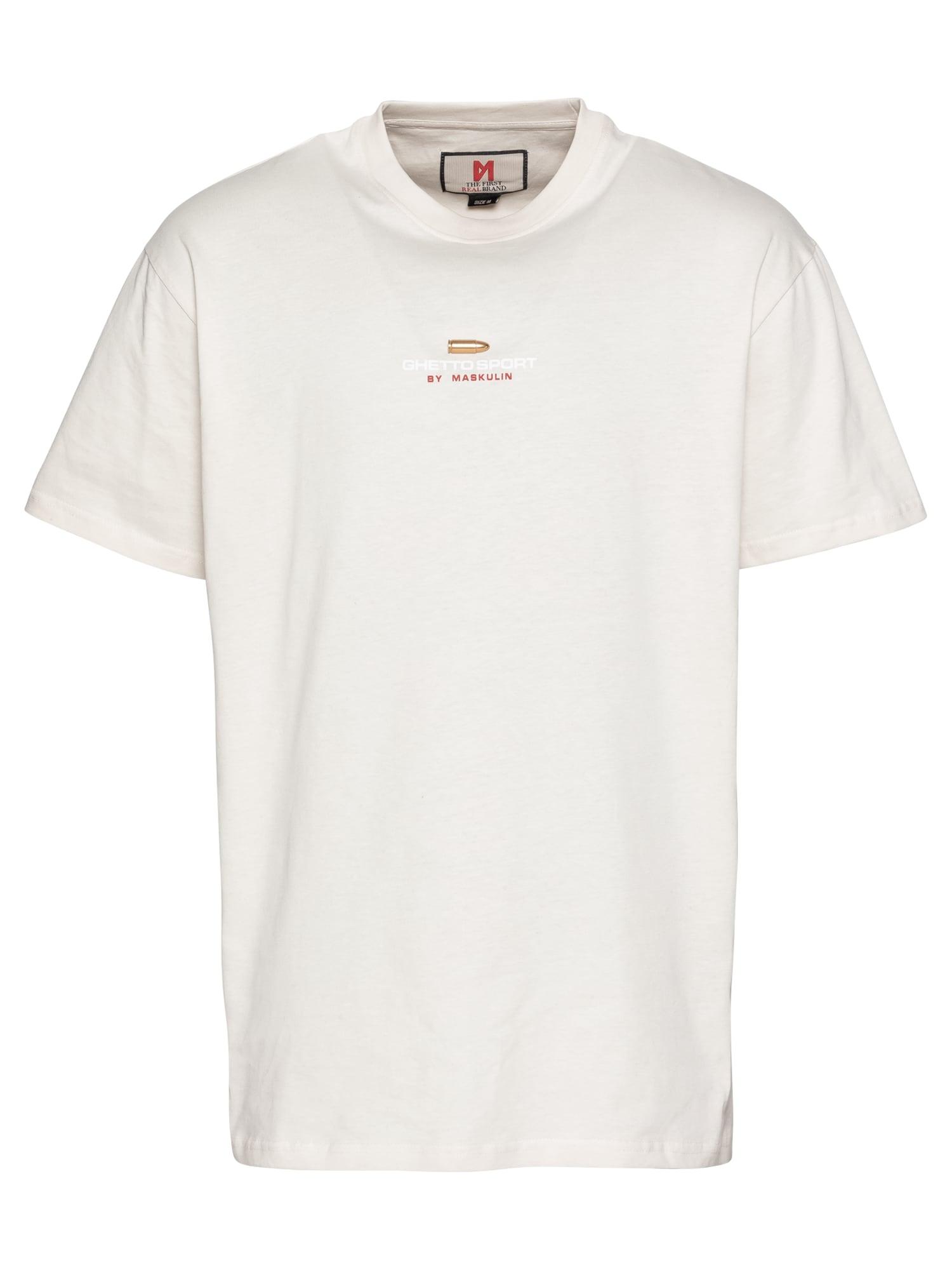 MASKULIN Marškinėliai kremo
