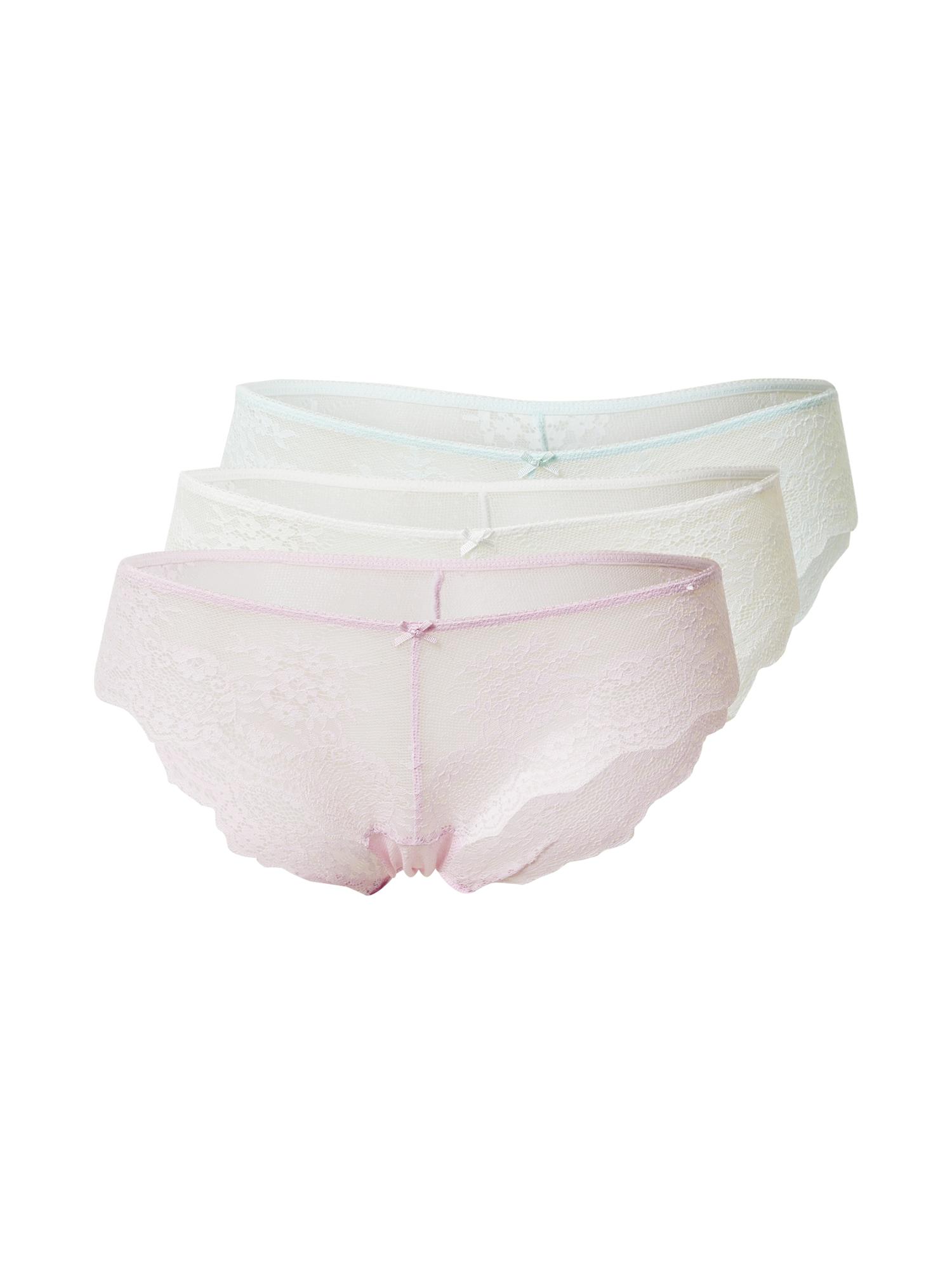 Cotton On Moteriškos kelnaitės 'ZOE' kremo / pastelinė violetinė / azuro