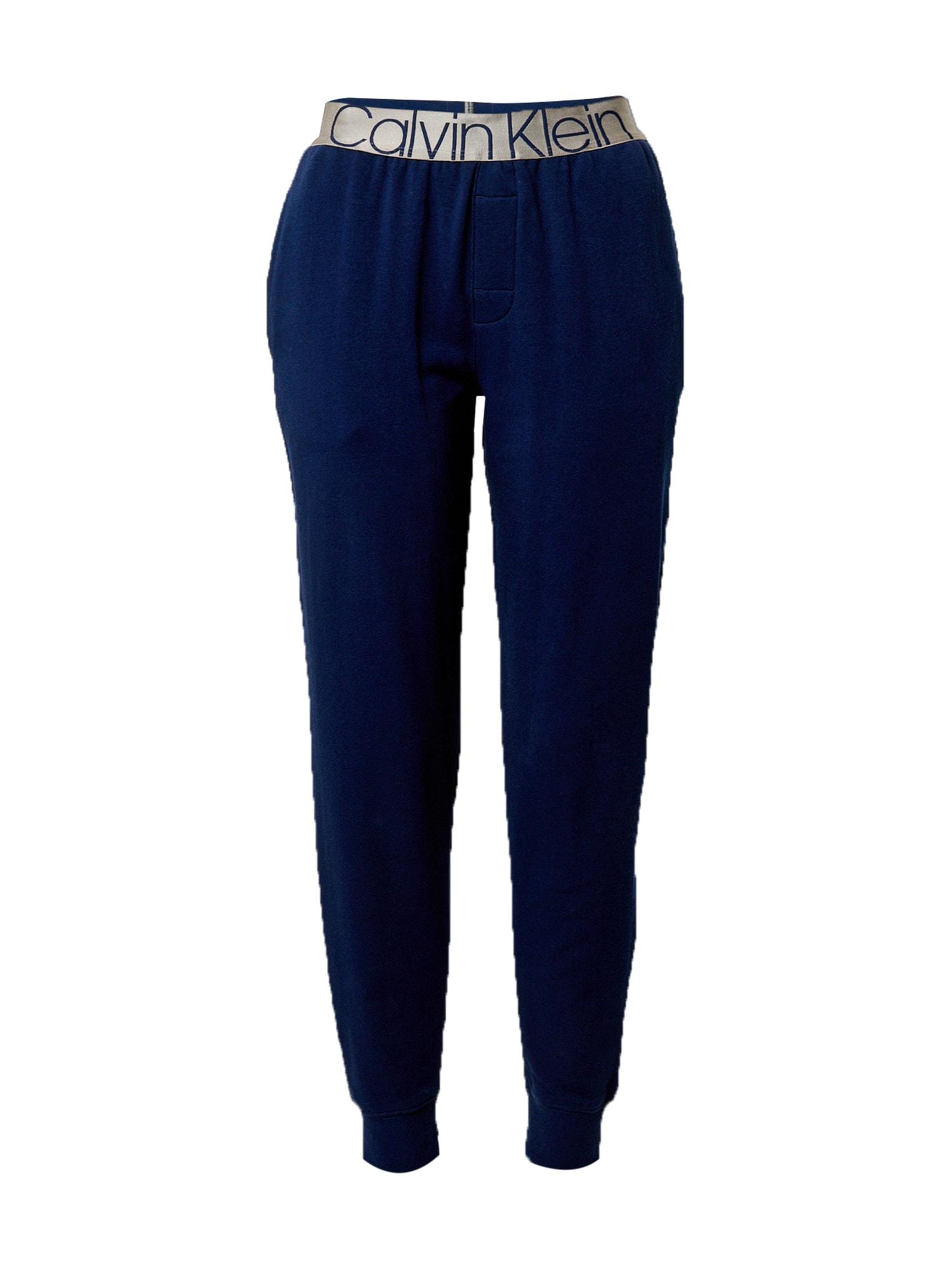 Calvin Klein Underwear Pižaminės kelnės tamsiai mėlyna / sidabrinė