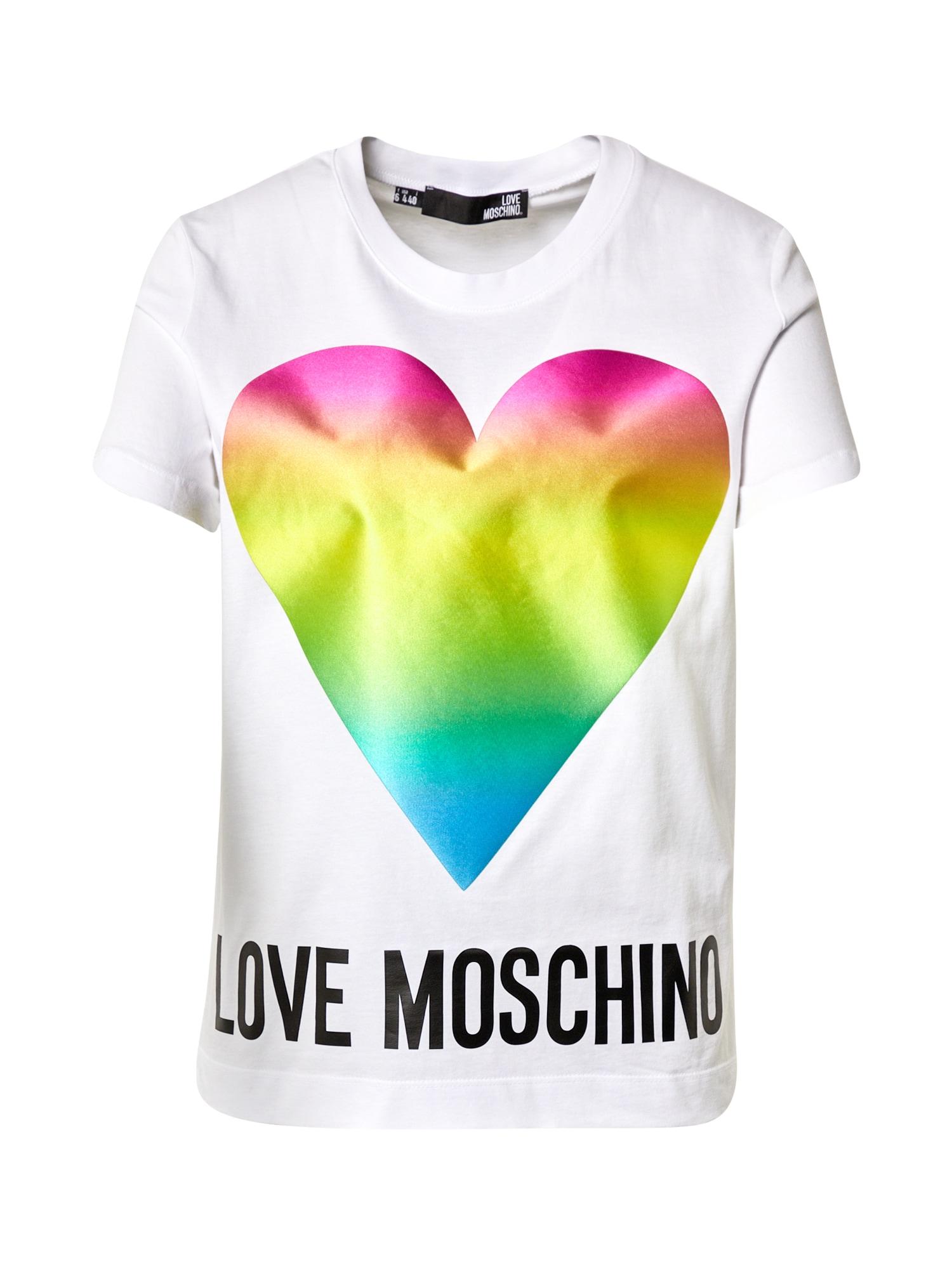 Love Moschino Marškinėliai balta / mišrios spalvos