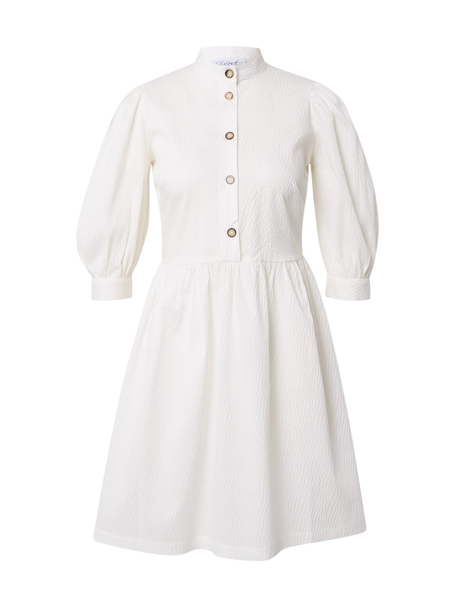 Closet London Palaidinės tipo suknelė balta