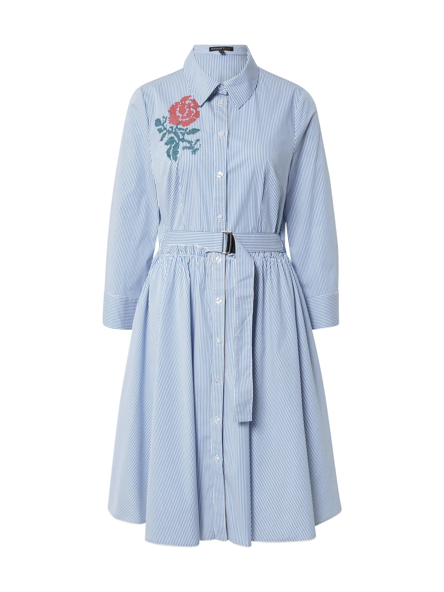 APART Suknelė mėlyna / balta