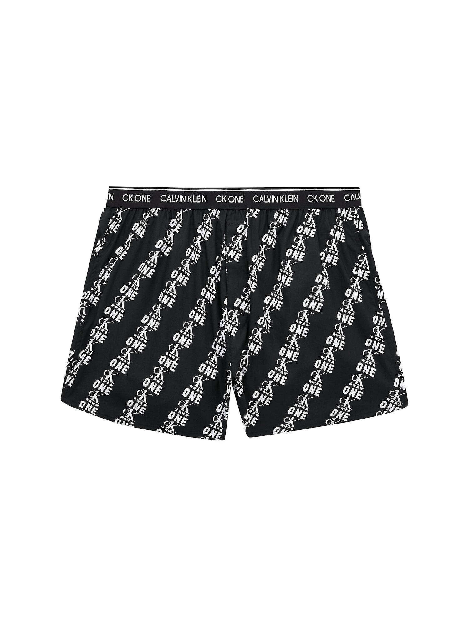 Calvin Klein Underwear Boxer trumpikės juoda / balta