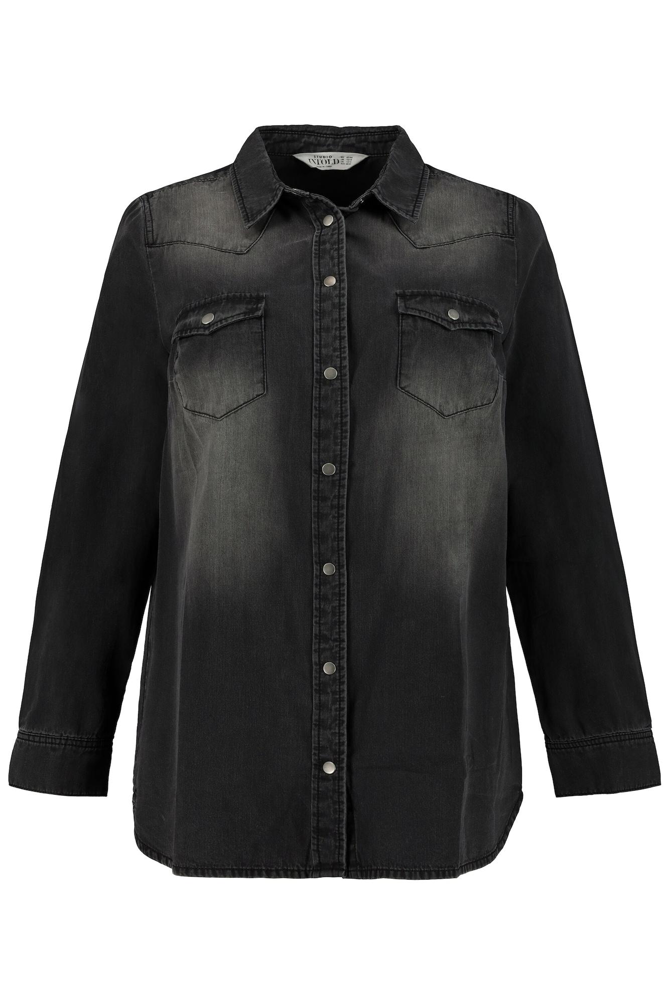 Studio Untold Palaidinė juodo džinso spalva