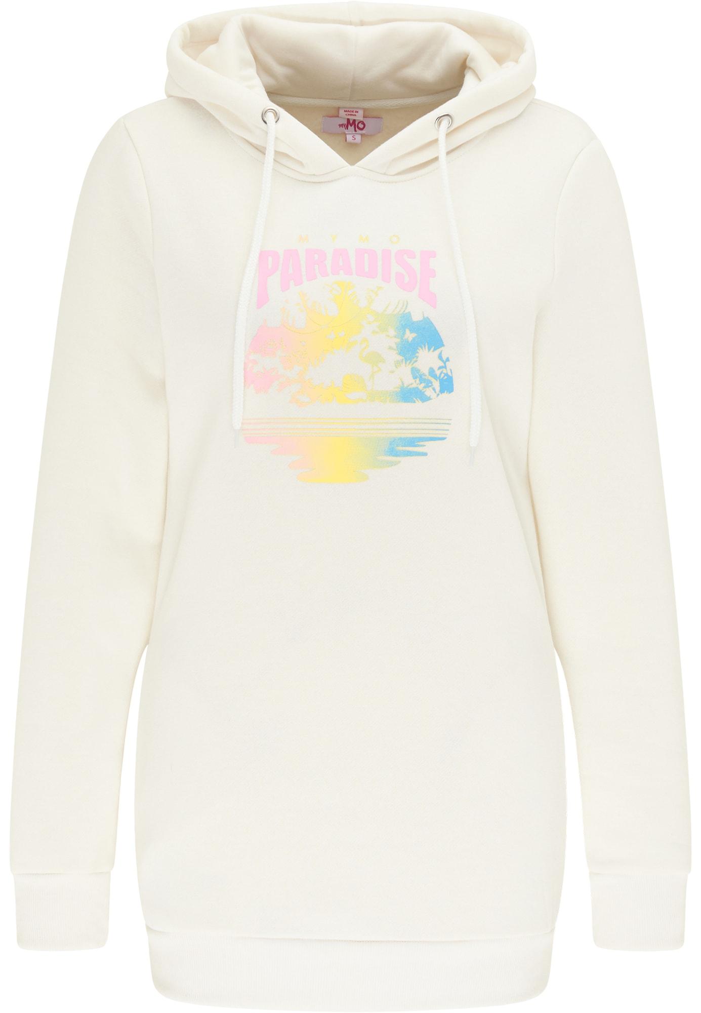 MYMO Megztinis be užsegimo geltona / mėlyna / pastelinė rožinė / vilnos balta