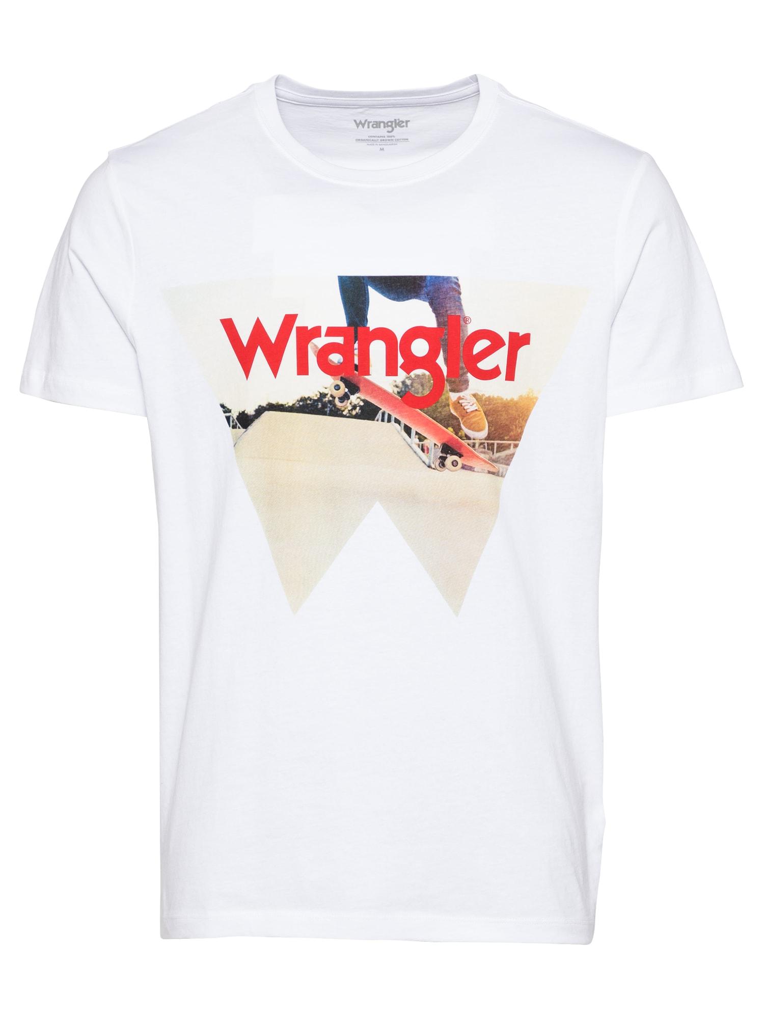 WRANGLER Marškinėliai balta