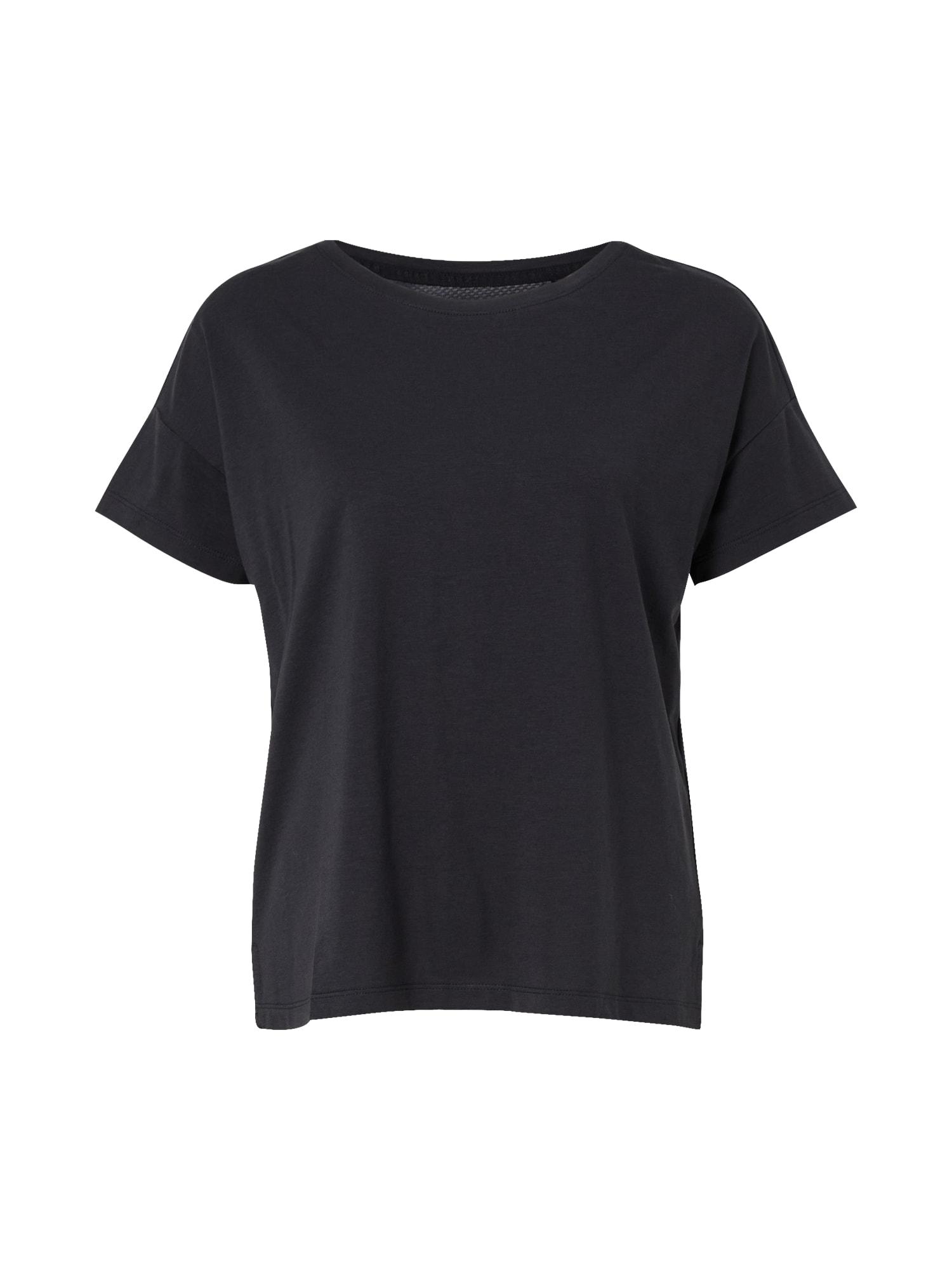 ESPRIT SPORT Sportiniai marškinėliai juoda / balta / raudona
