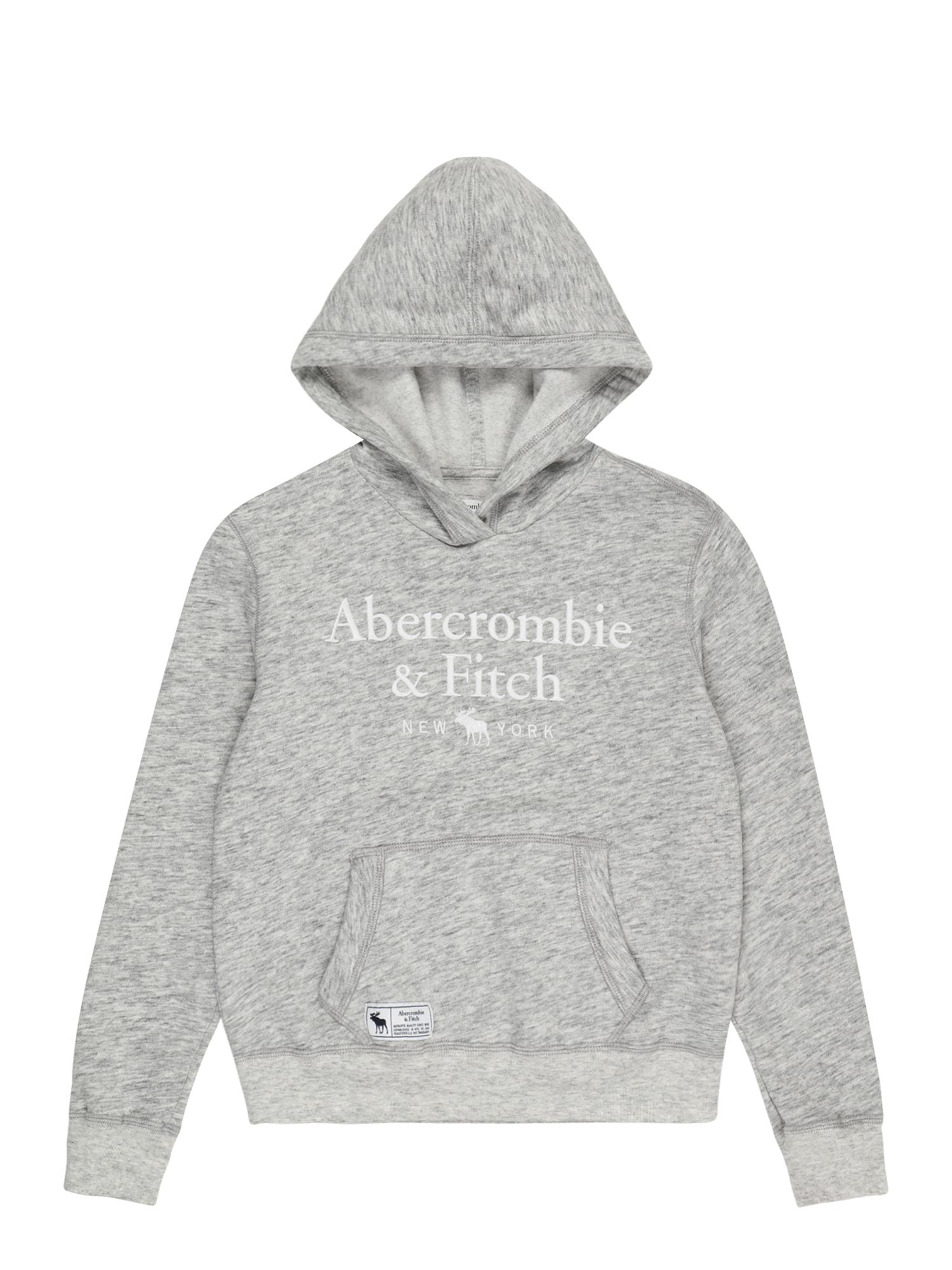 Abercrombie & Fitch Megztinis be užsegimo pilka / balta
