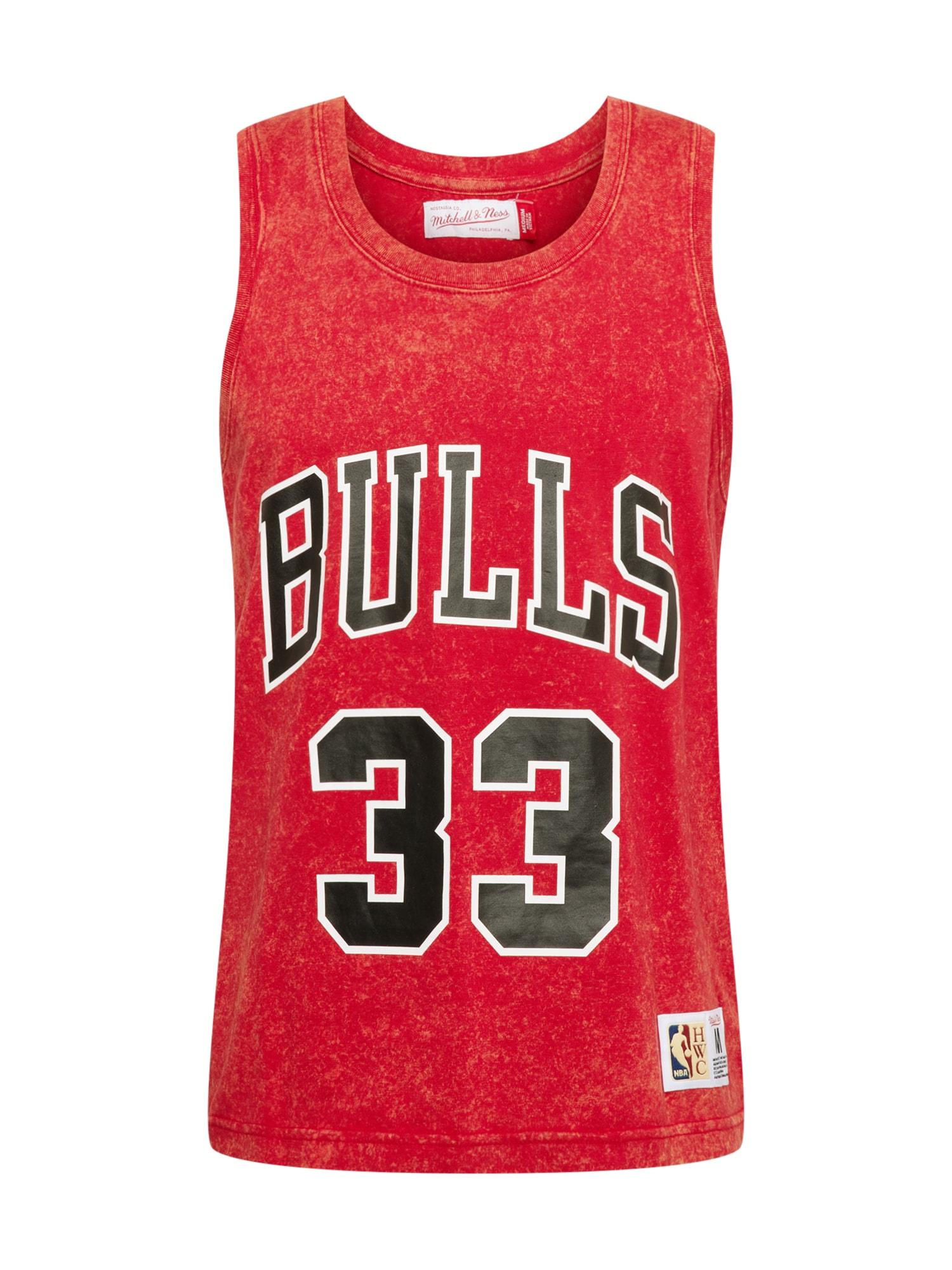Mitchell & Ness Marškinėliai raudona / juoda / balta